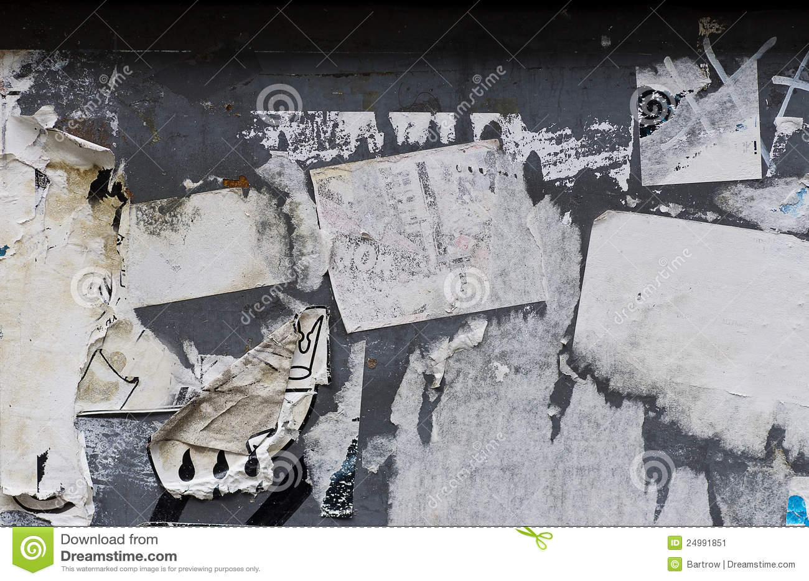 σχισμένος έγγραφο τοίχος