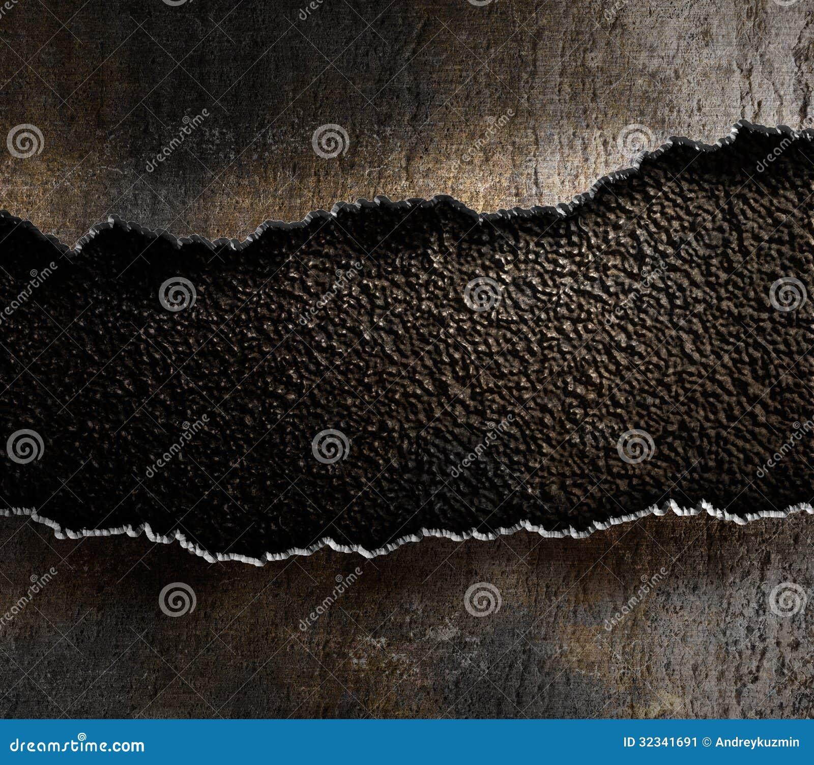 Σχισμένο μέταλλο υπόβαθρο ακρών