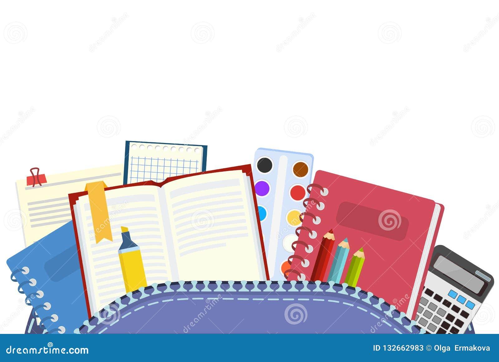 σχολείο Θέματα σακιδίων και σχολείων για τη διδασκαλία και την εκπαίδευση των μαθητών επίσης corel σύρετε το διάνυσμα απεικόνισης