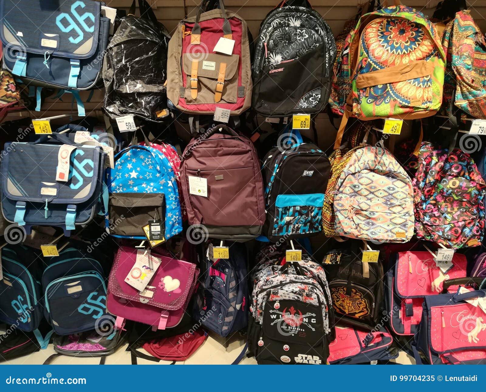 7fd472e177e Σχολικά σακίδια πλάτης για τα παιδιά Εκδοτική εικόνα - εικόνα από ...