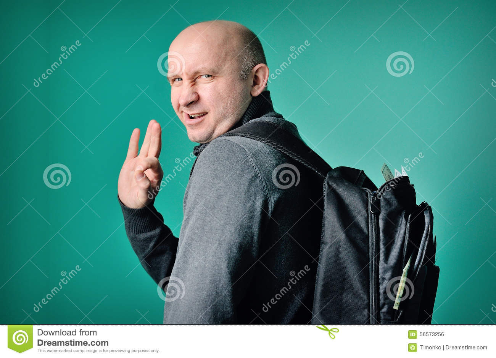 Download Σχολαστικό άτομο με ένα σακίδιο πλάτης Στοκ Εικόνες - εικόνα από fetid, μέση: 56573256