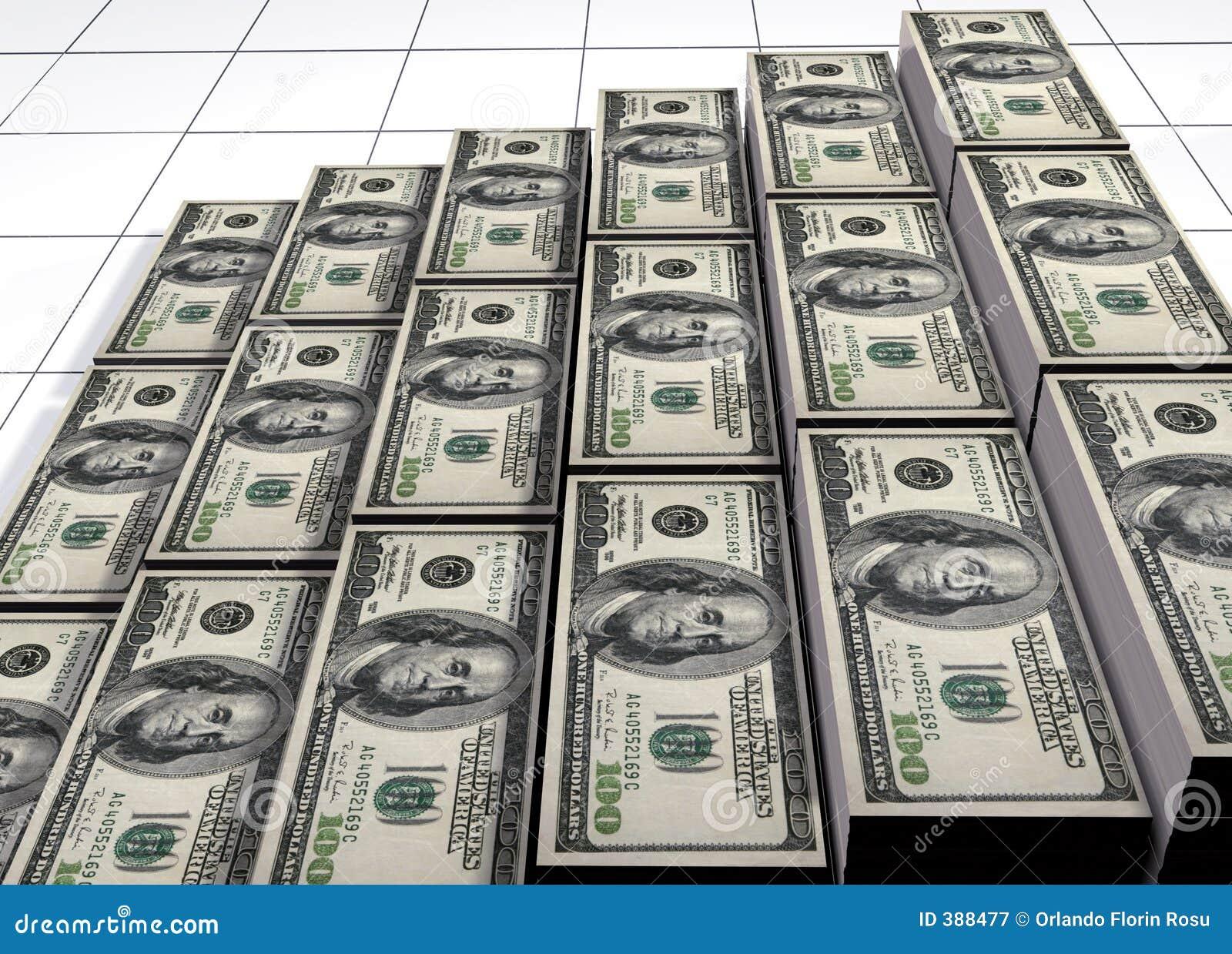σωροί δολαρίων