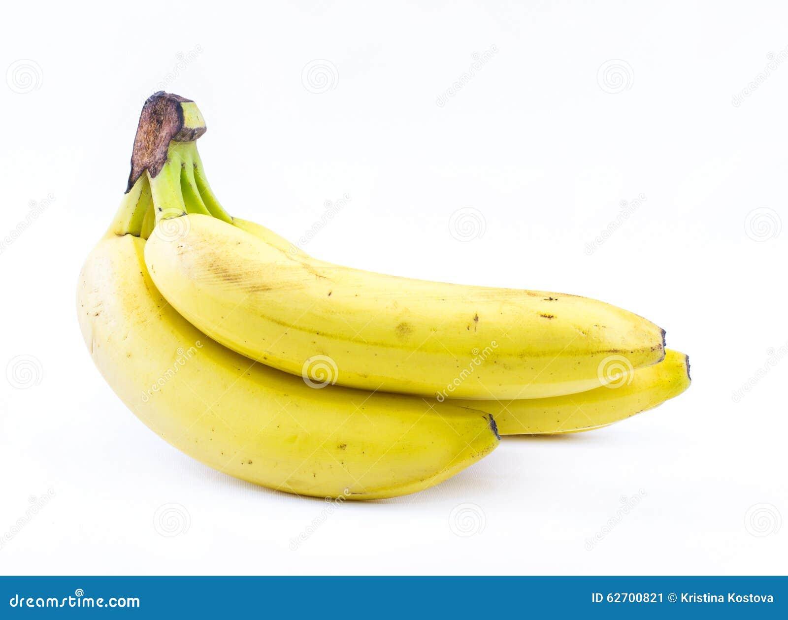 Σωρός των κίτρινων μπανανών σε ένα άσπρο υπόβαθρο - μπροστινή άποψη