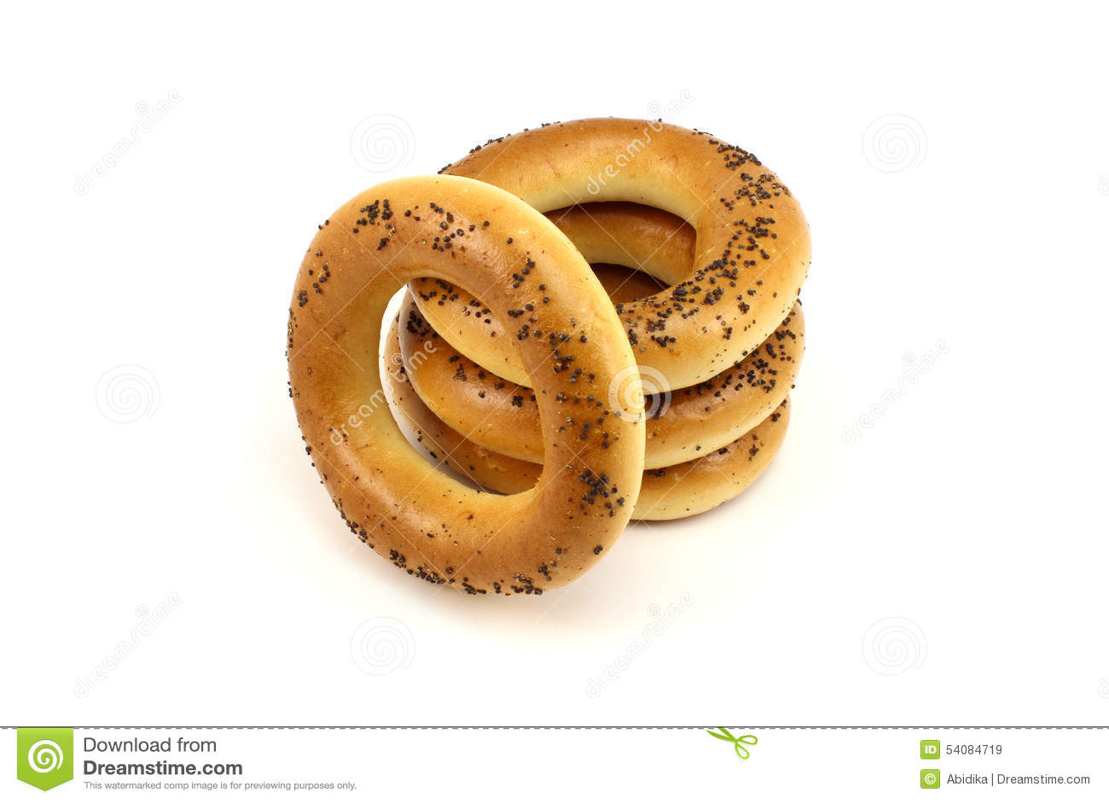 Σωρός bagels παπαρουνών