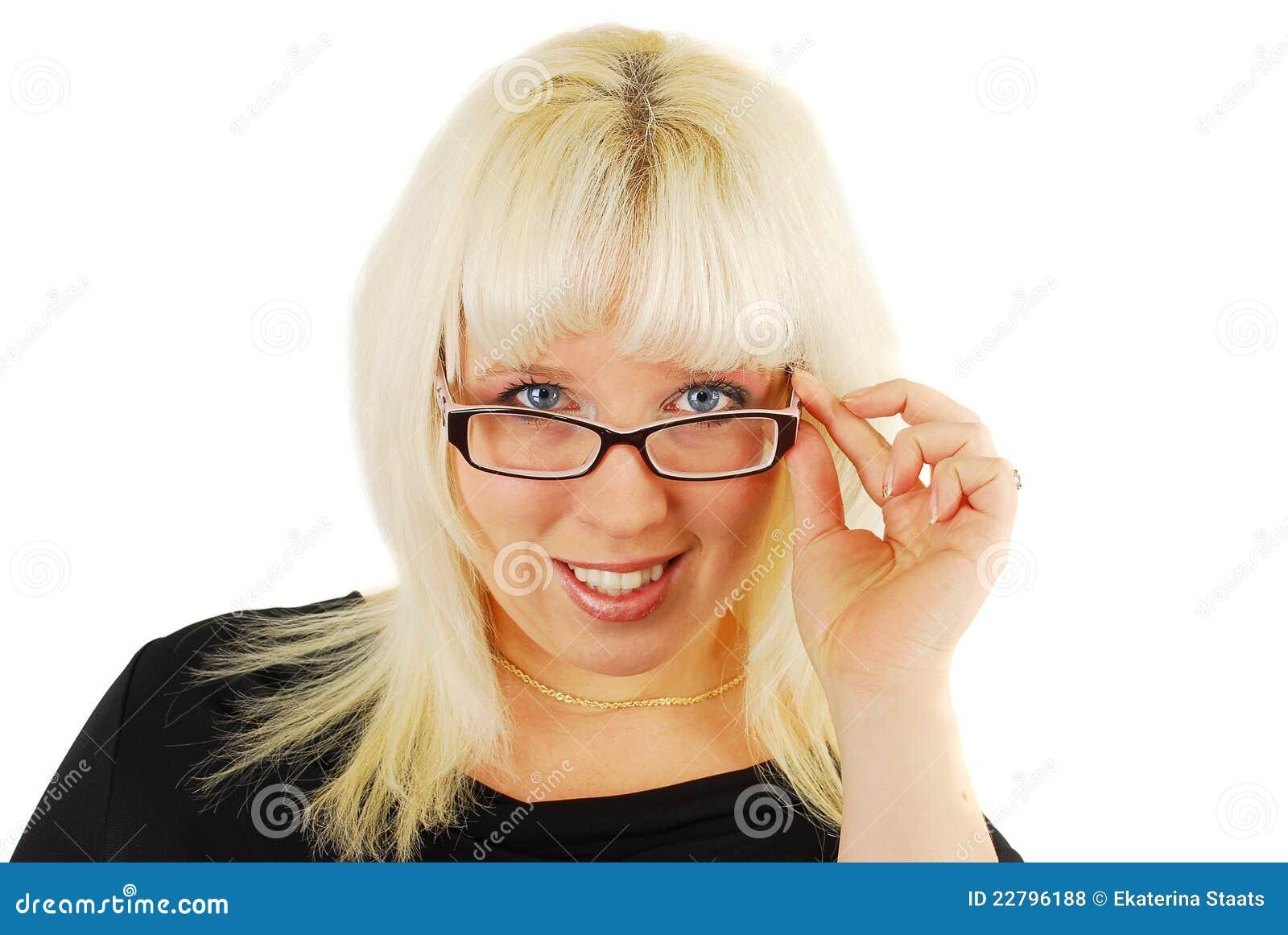 σύγχρονη γυναίκα επιχειρησιακών γυαλιών