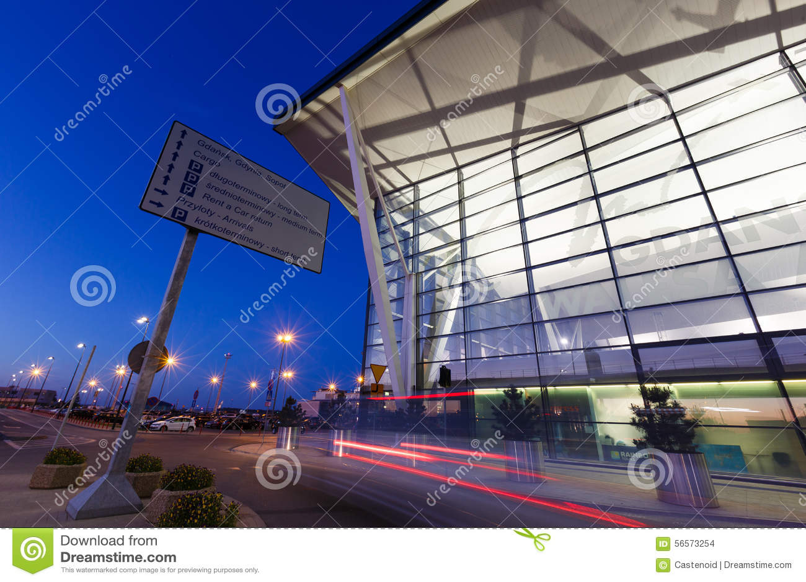 Download Σύγχρονη οικοδόμηση του αερολιμένα Lech Valesa στο Γντανσκ Εκδοτική Στοκ Εικόνα - εικόνα από aviations, γντανσκ: 56573254