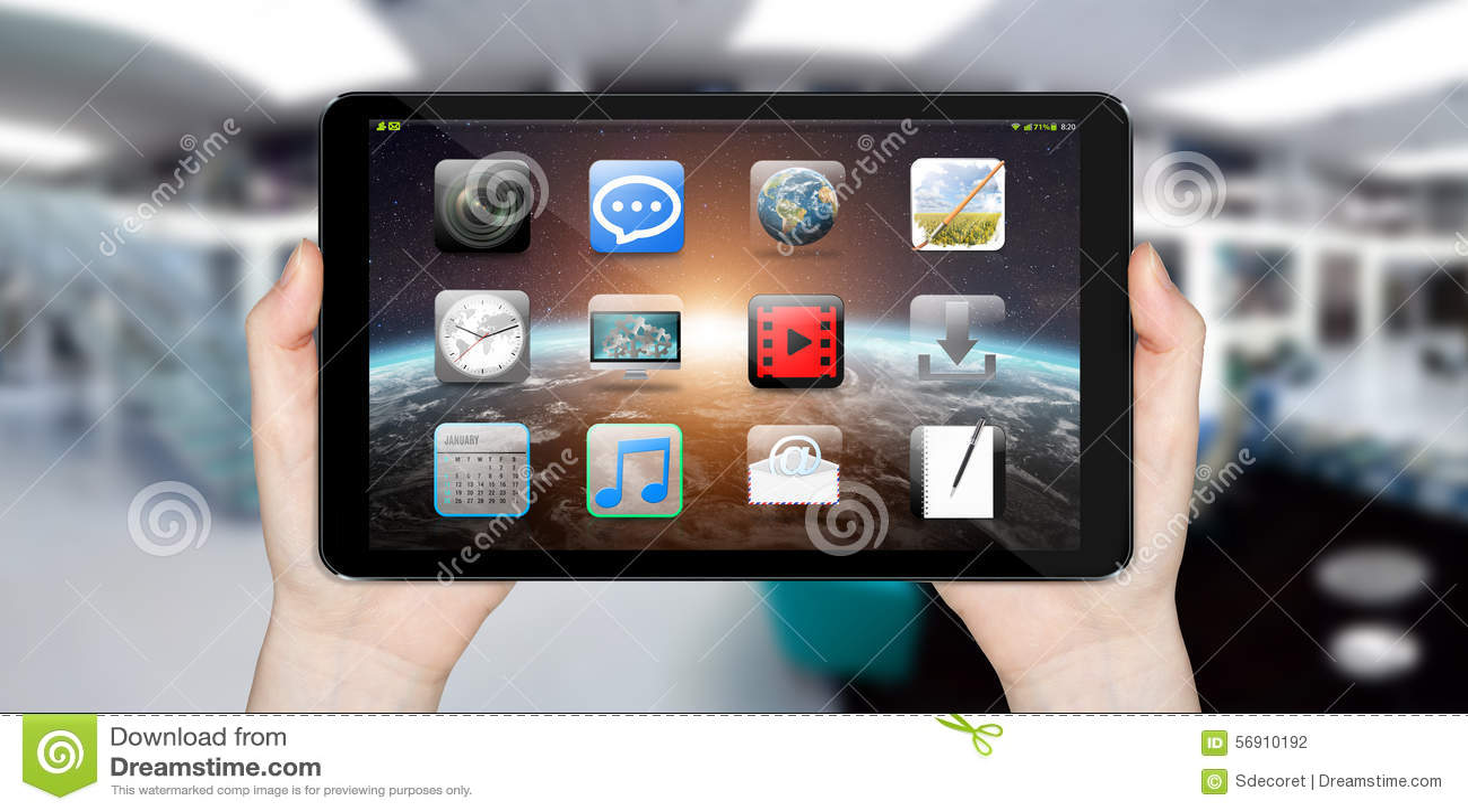 Σύγχρονη ψηφιακή ταμπλέτα