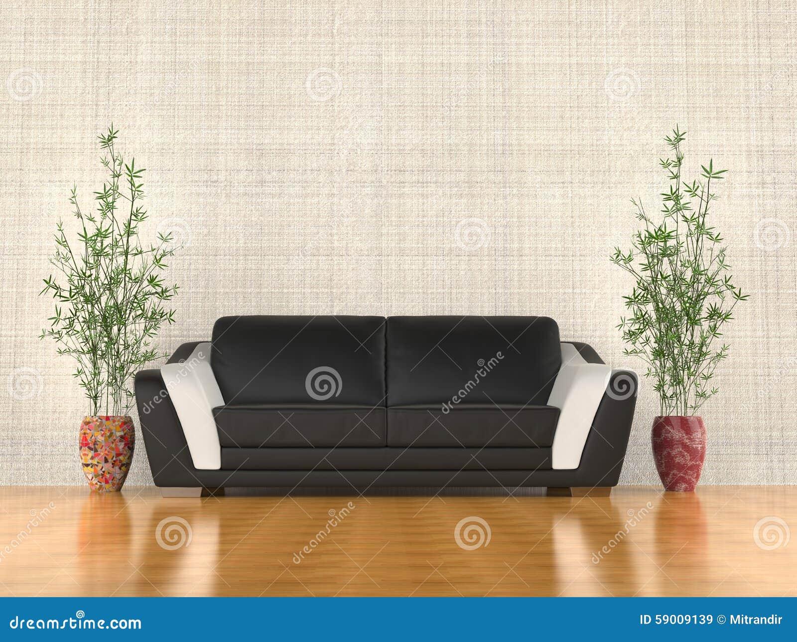 Σύγχρονος καναπές στο καθιστικό