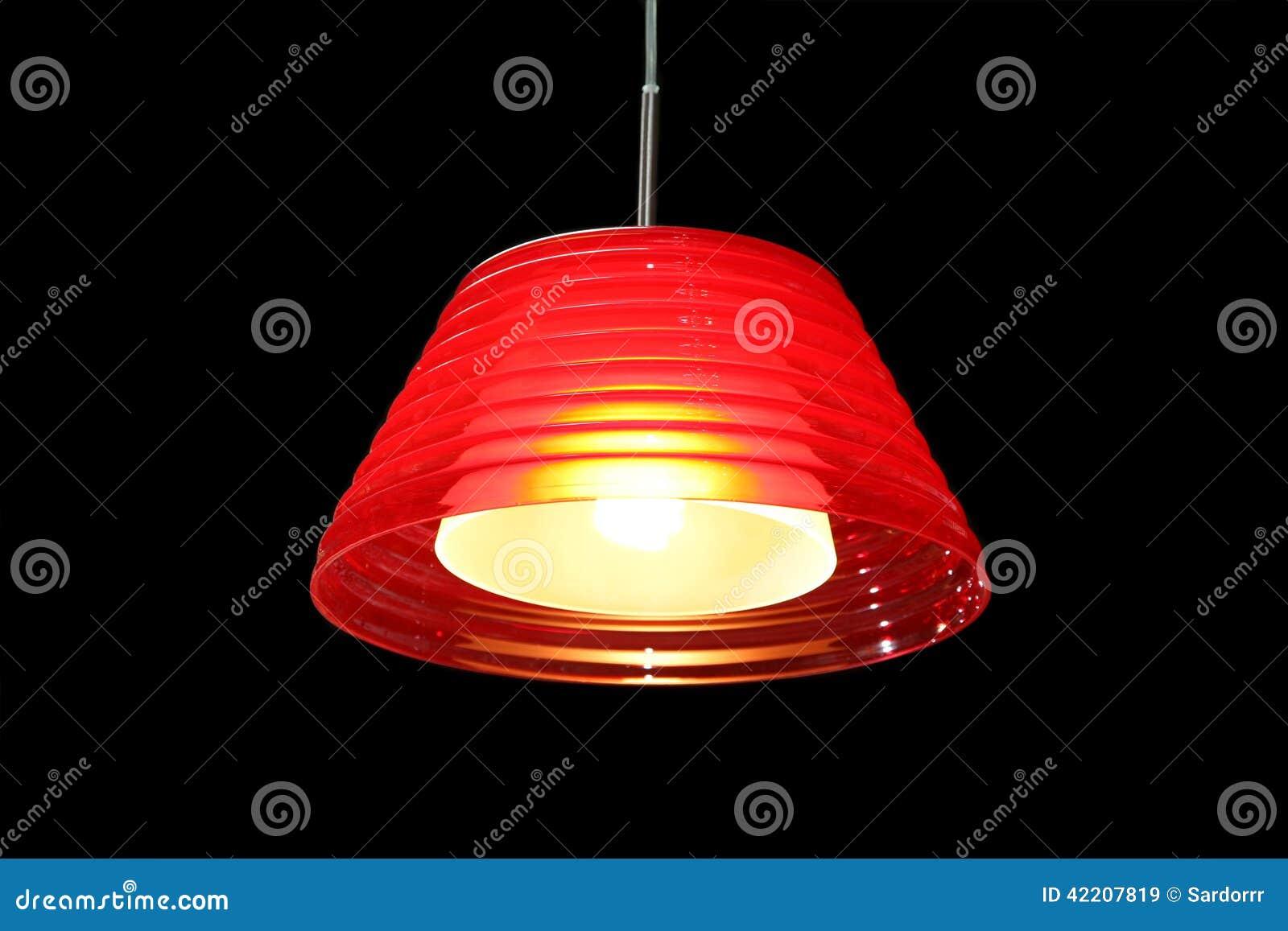 Σύγχρονος κόκκινος λαμπτήρας