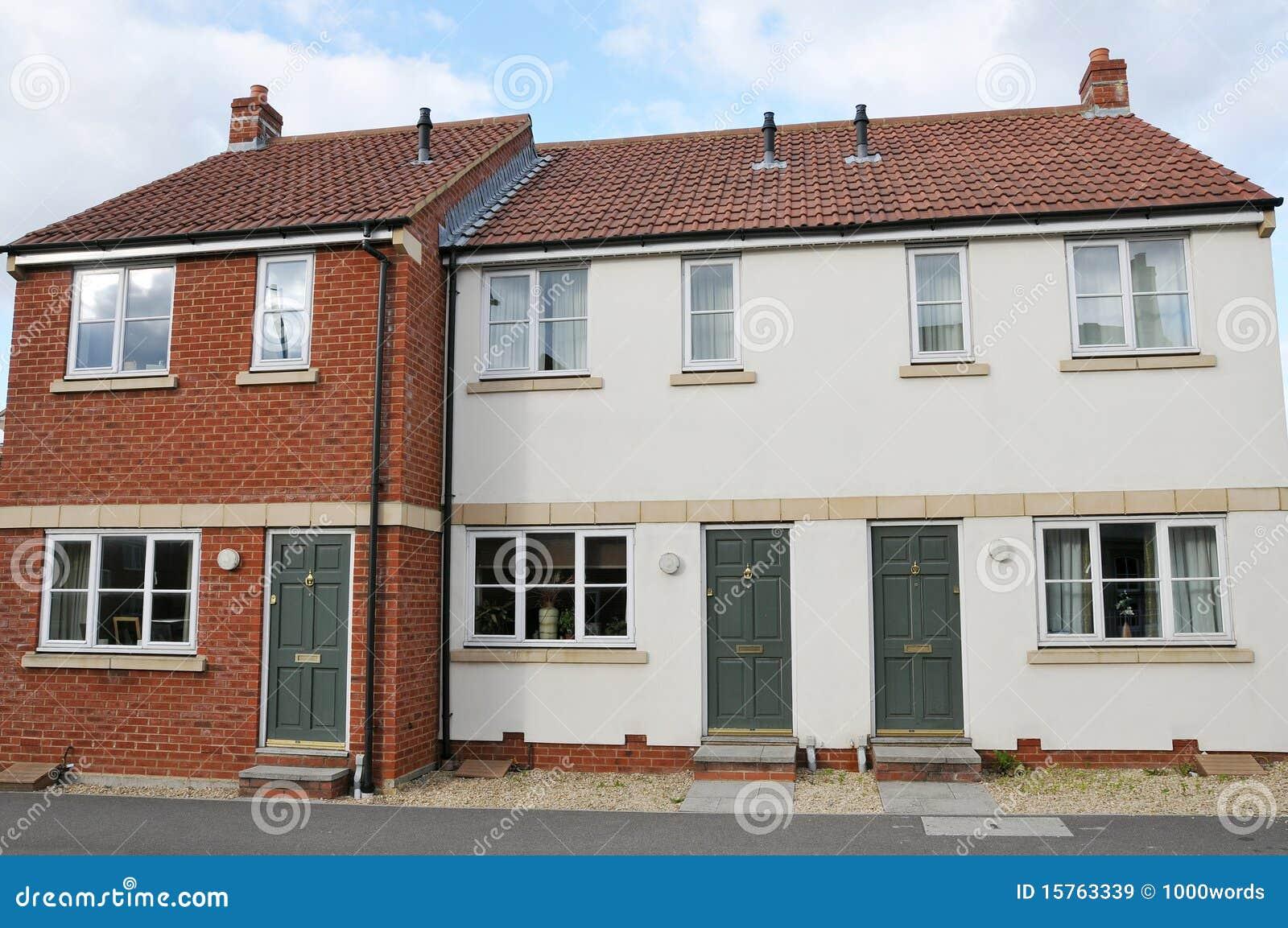 σύγχρονος terraced σπιτιών