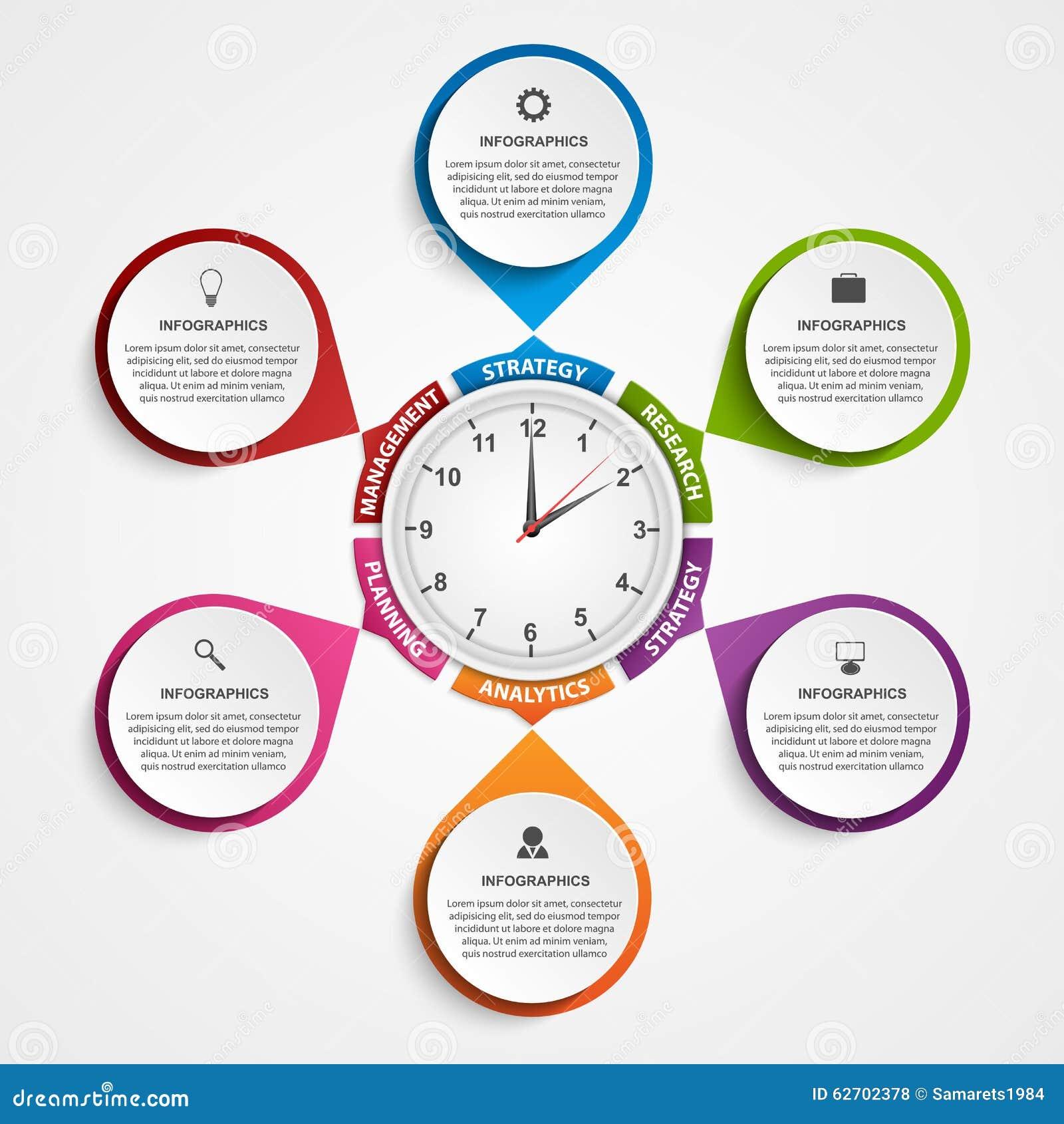 Σύγχρονο έμβλημα επιλογών infographics