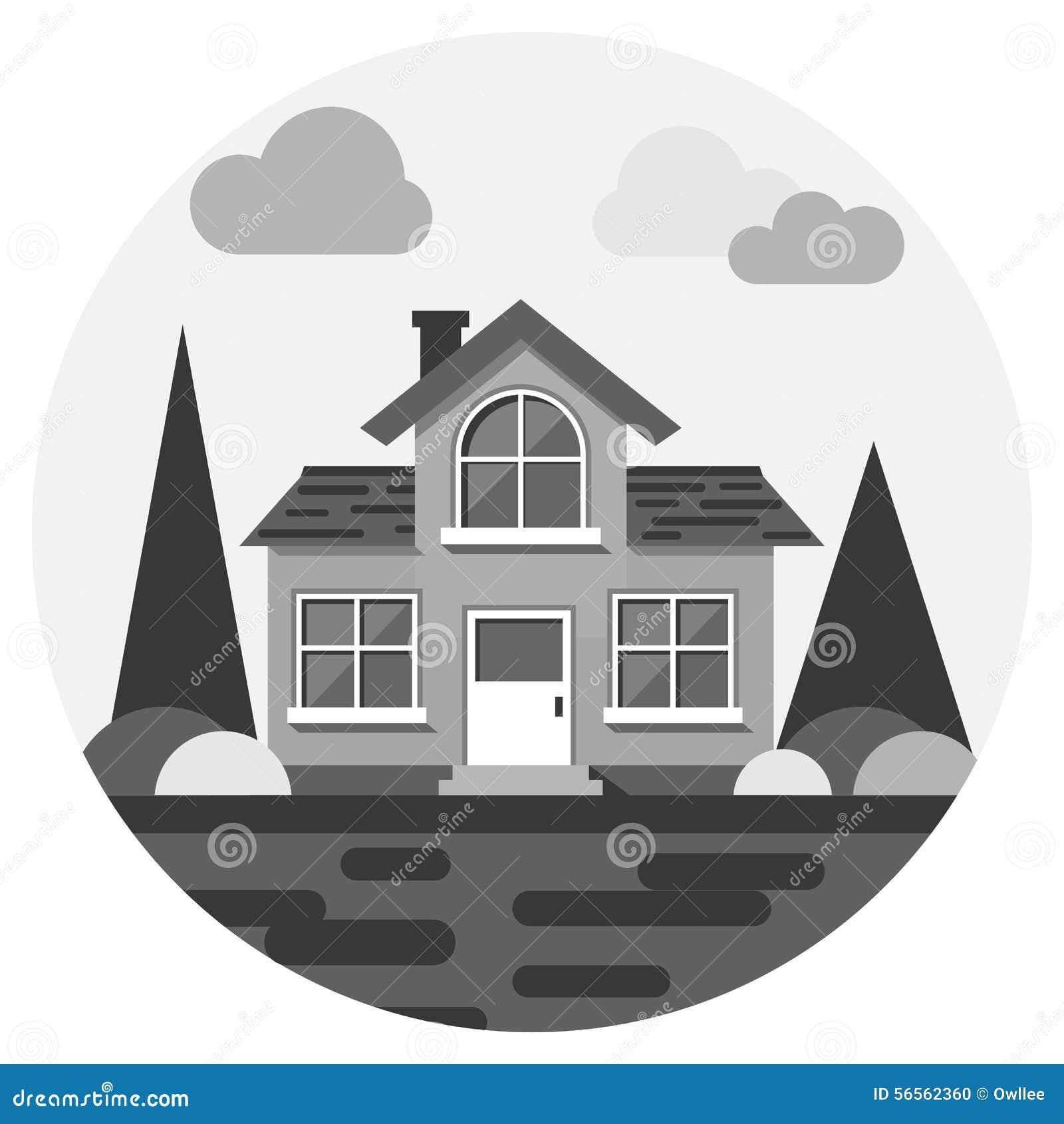 Download Σύγχρονο επίπεδο διανυσματικό κτήριο Διανυσματική απεικόνιση - εικονογραφία από απεικόνιση, πόρτα: 56562360