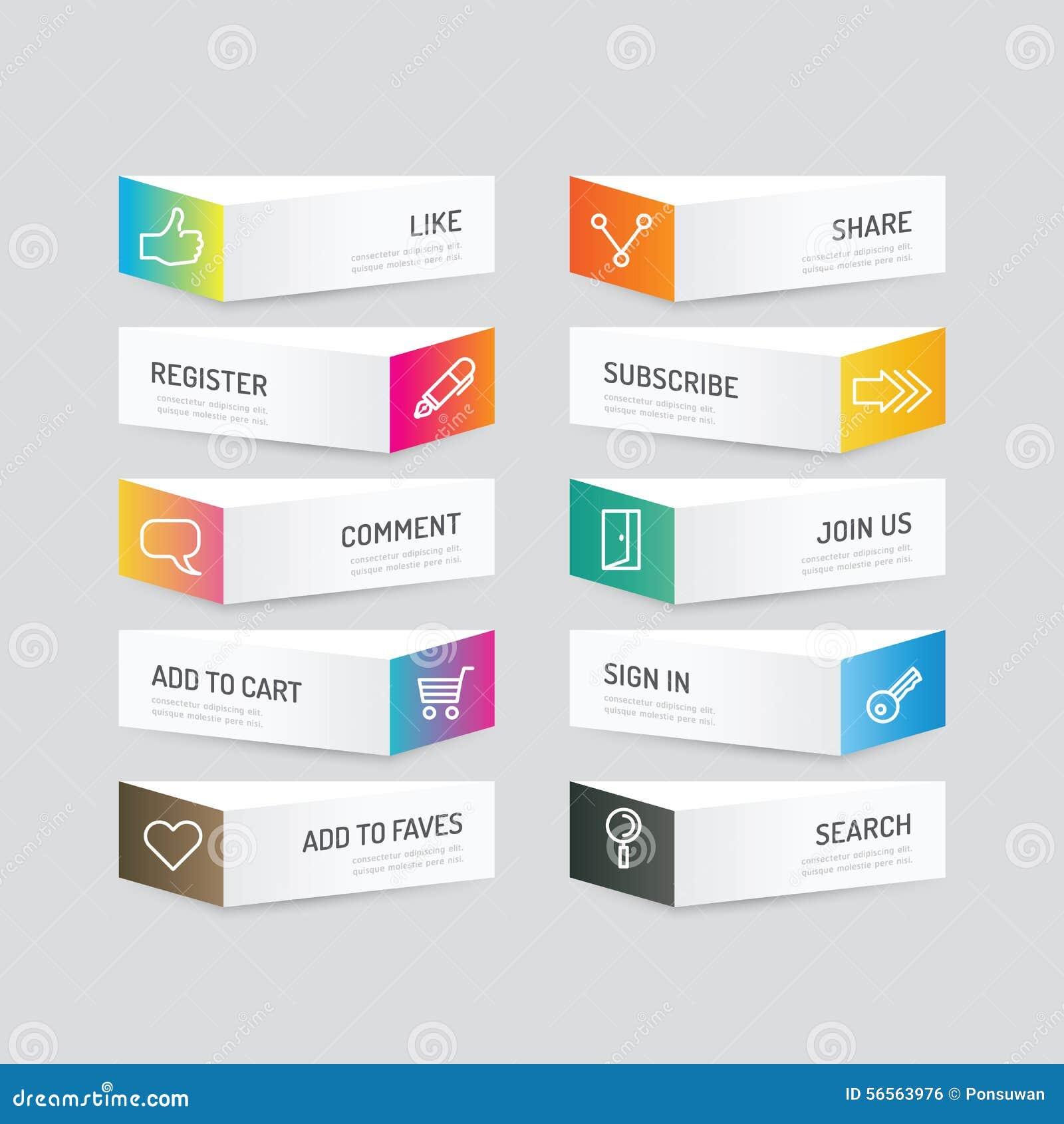 Download Σύγχρονο κουμπί εμβλημάτων με τις κοινωνικές επιλογές σχεδίου εικονιδίων Διάνυσμα άρρωστο Διανυσματική απεικόνιση - εικονογραφία από πληροφορίες, επιχείρηση: 56563976
