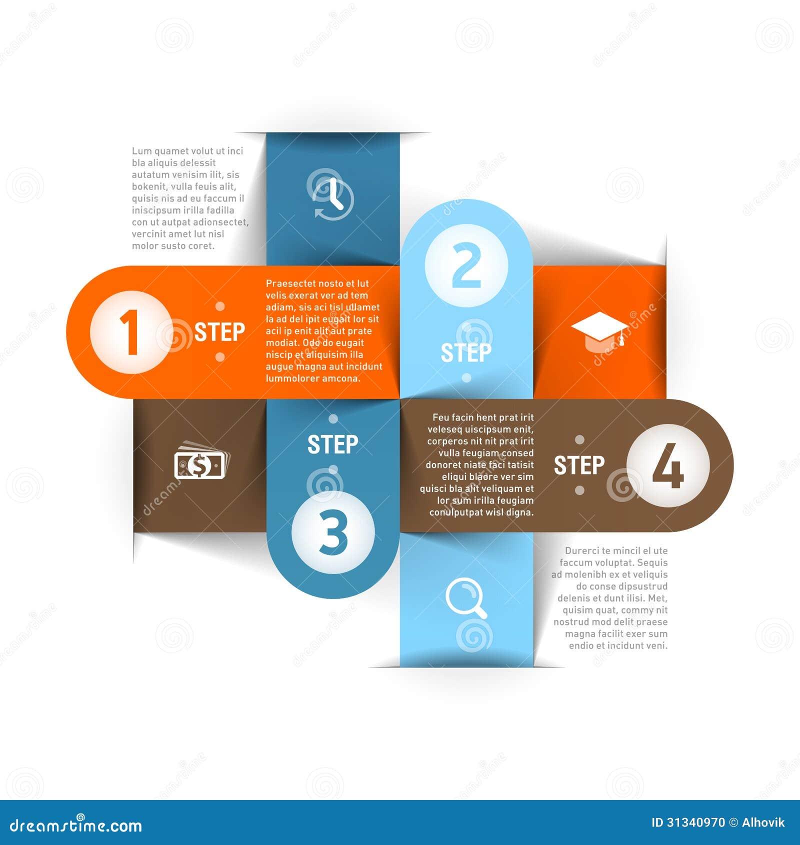 Σύγχρονο πρότυπο επιχειρησιακού infographics