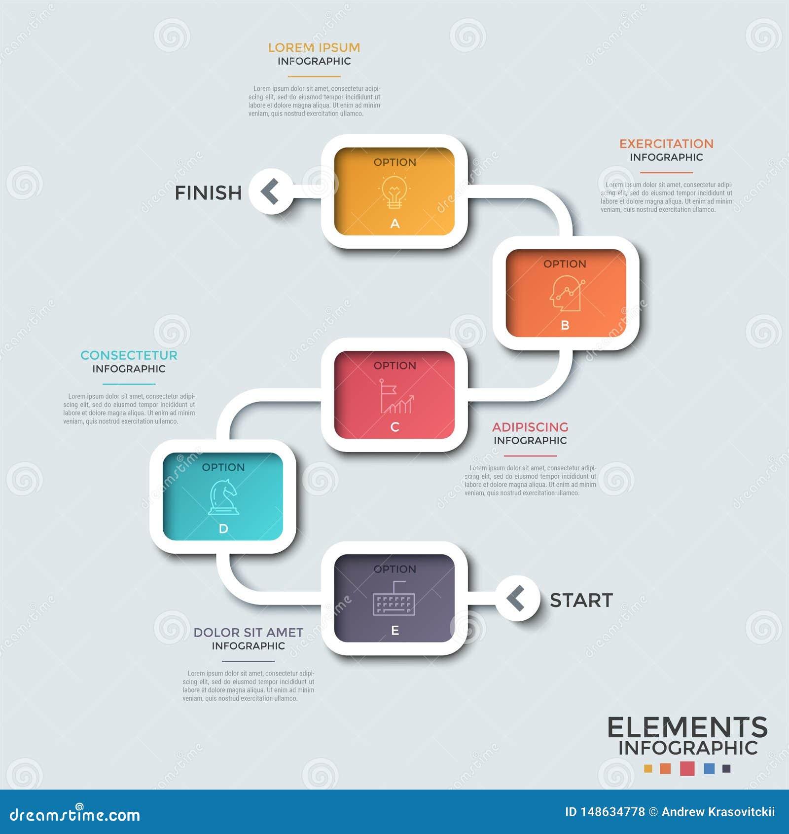 Σύγχρονο πρότυπο Infographic