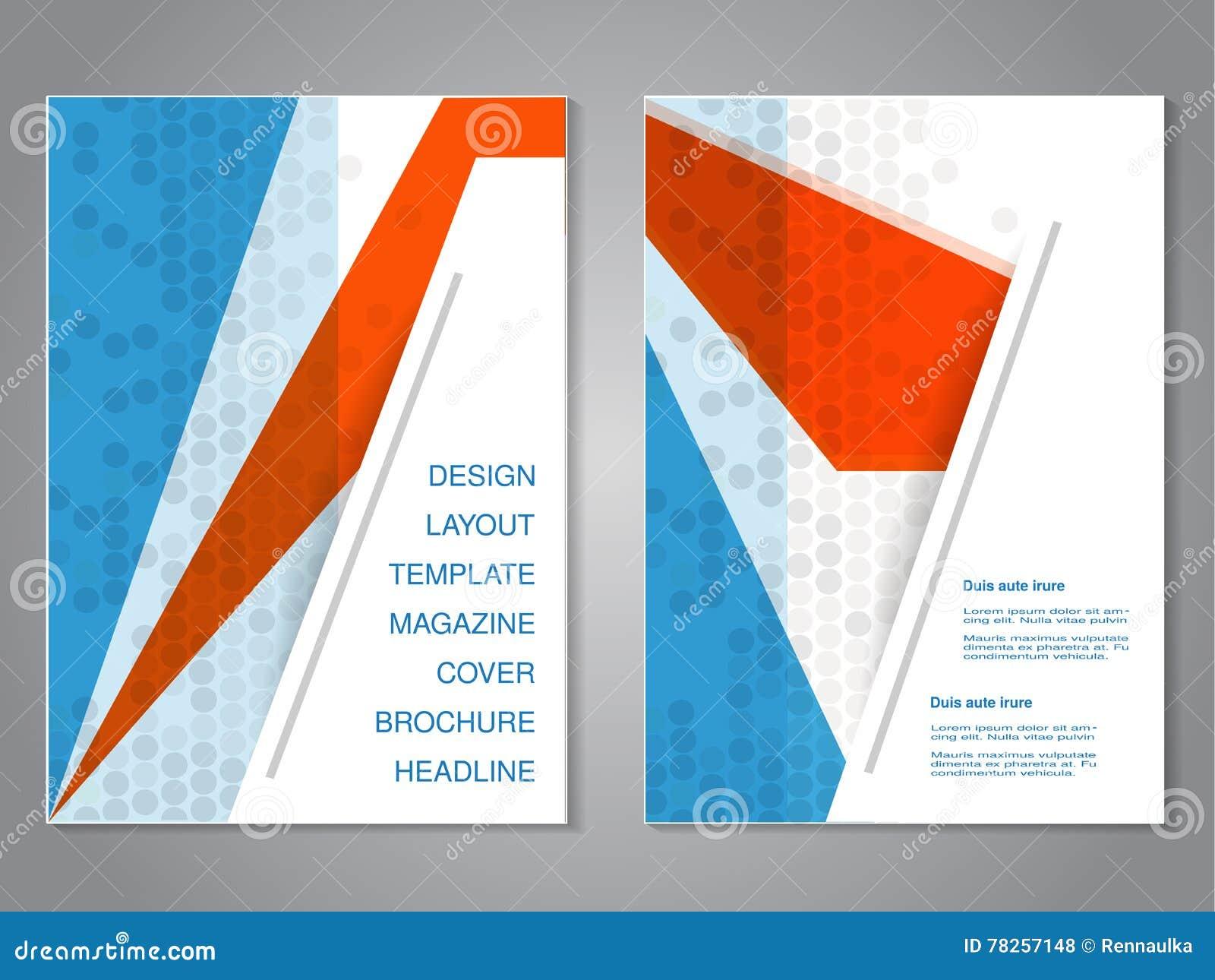 Σύγχρονο φυλλάδιο με το αφηρημένο σχέδιο, ιπτάμενο με το γκρίζο διαστιγμένο υπόβαθρο Πρότυπο σχεδιαγράμματος Λόγος διάστασης για