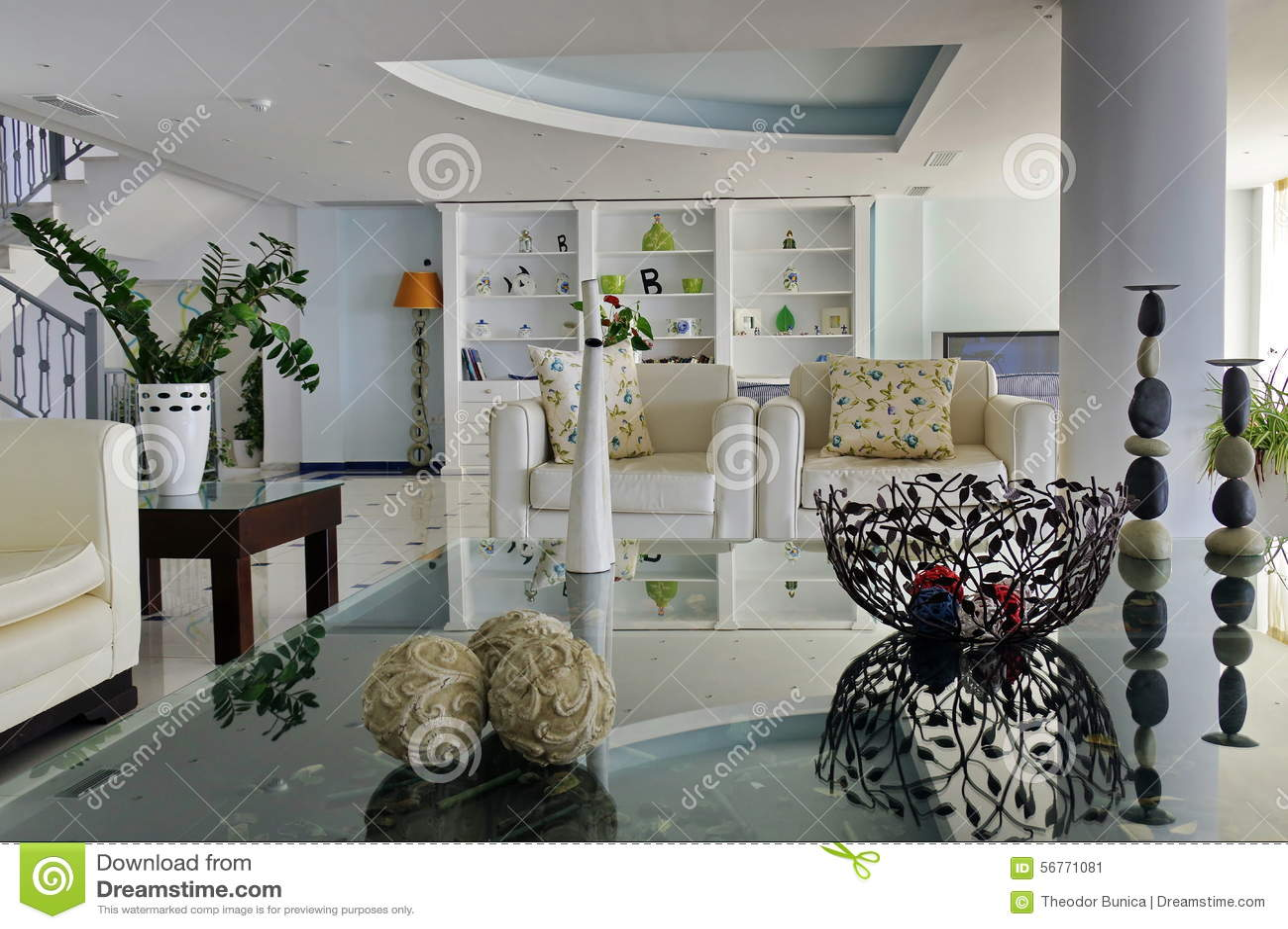 σύγχρονο δωμάτιο διαβίωσης