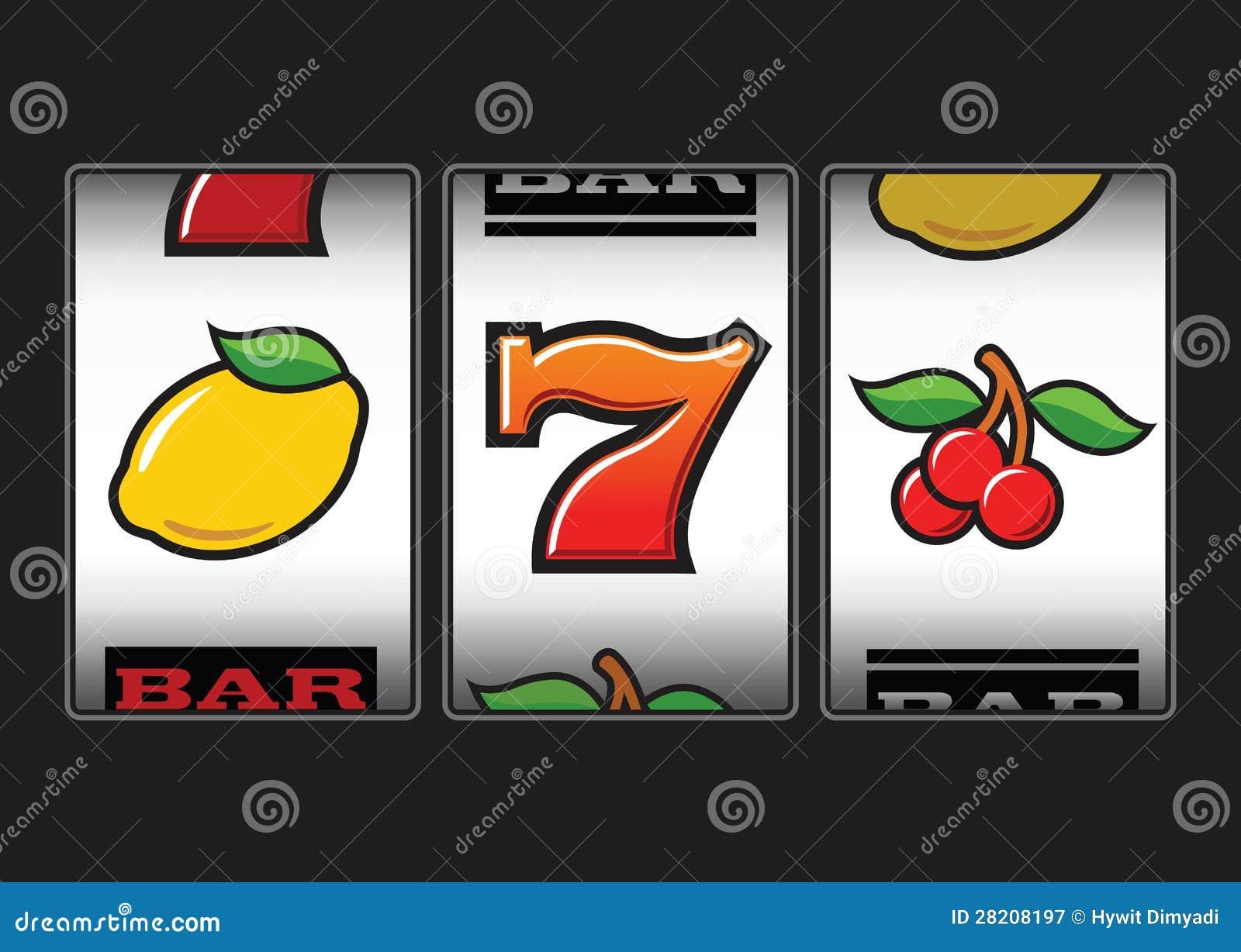 Σύμβολα μηχανημάτων τυχερών παιχνιδιών με κέρματα