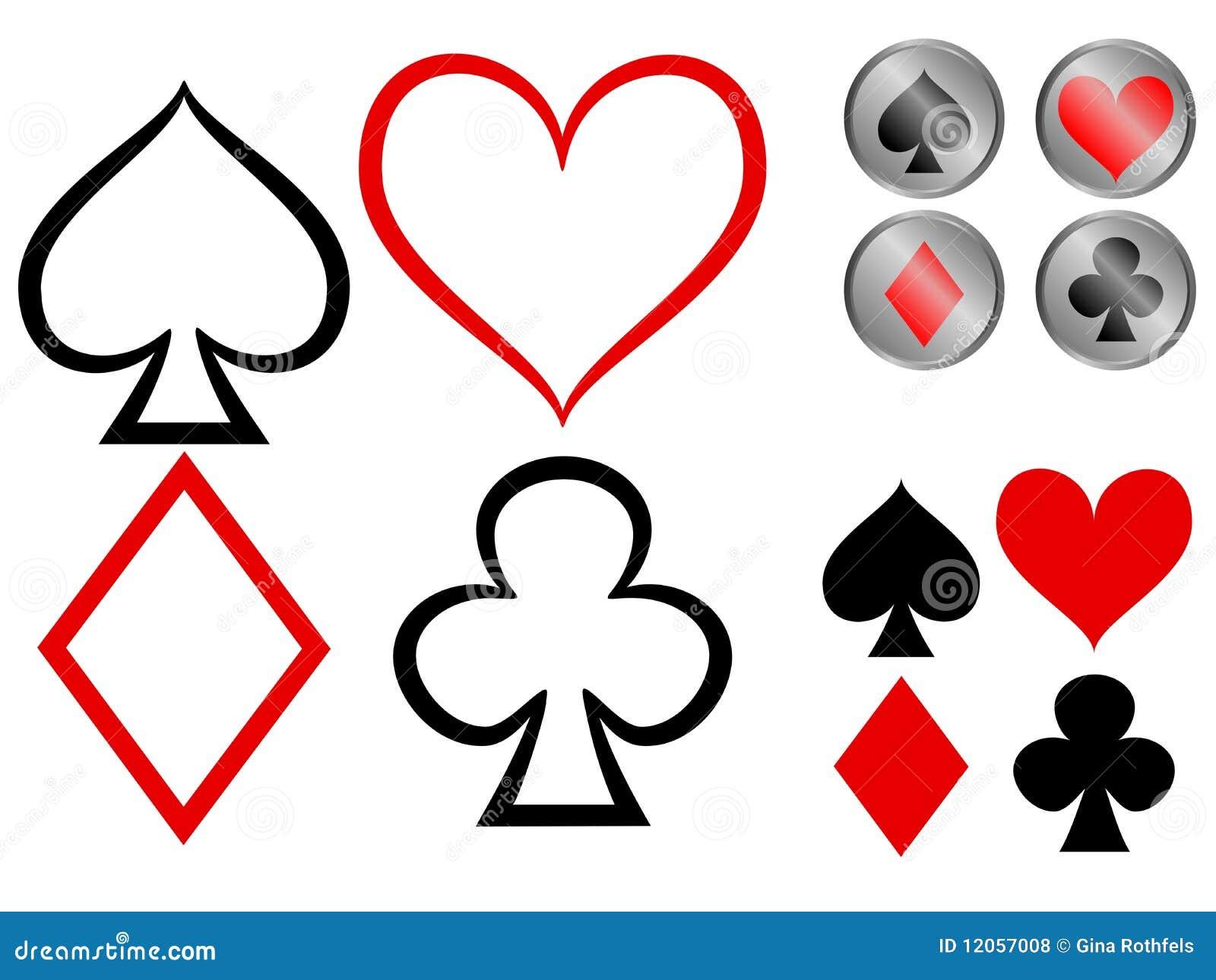 σύμβολα παιχνιδιού καρτών