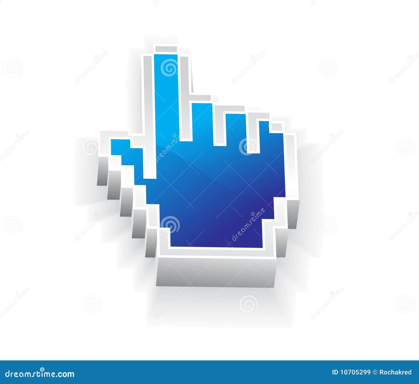 σύμβολο ποντικιών χεριών