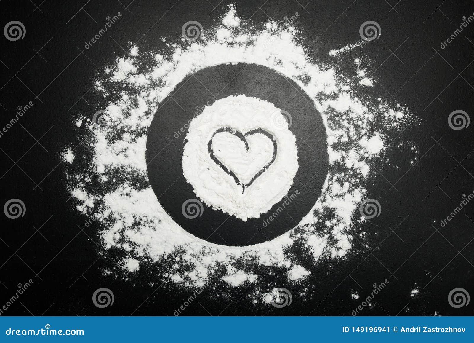 Σύμβολο της καρδιάς στο αλεύρι