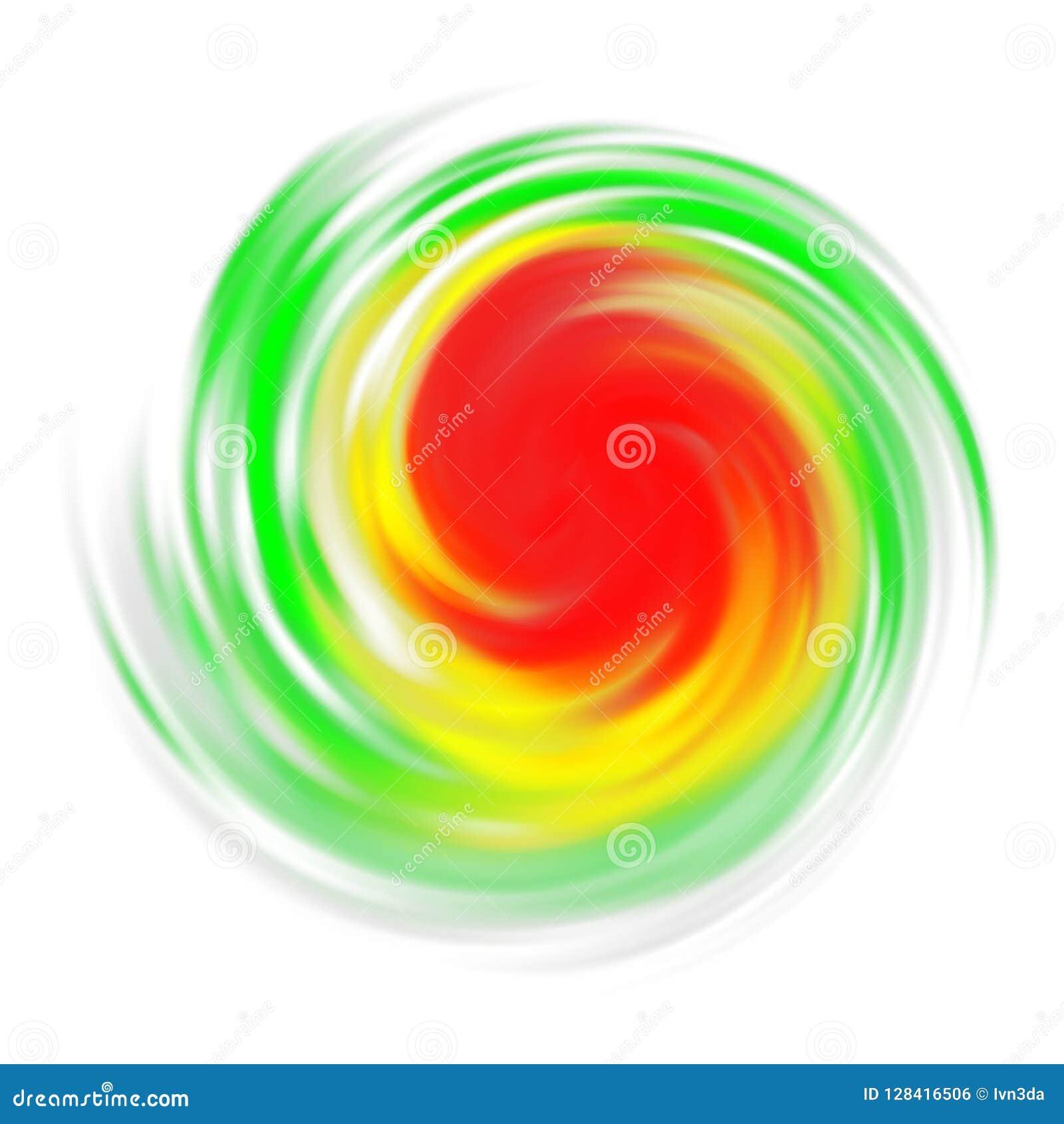 Σύμβολο τυφώνα με την ένδειξη έντασης που απομονώνεται στο λευκό