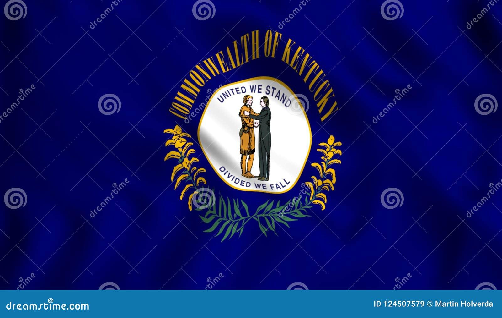 Σύμβολο των κρατικών ΗΠΑ του Κεντάκυ σημαιών κρατικό
