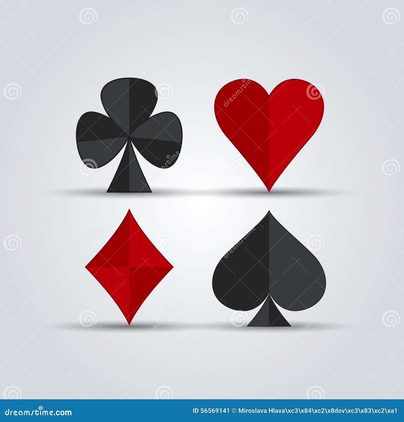 Download Σύμβολα καρτών παιχνιδιού διανυσματική απεικόνιση. εικονογραφία από εικονίδιο - 56569141