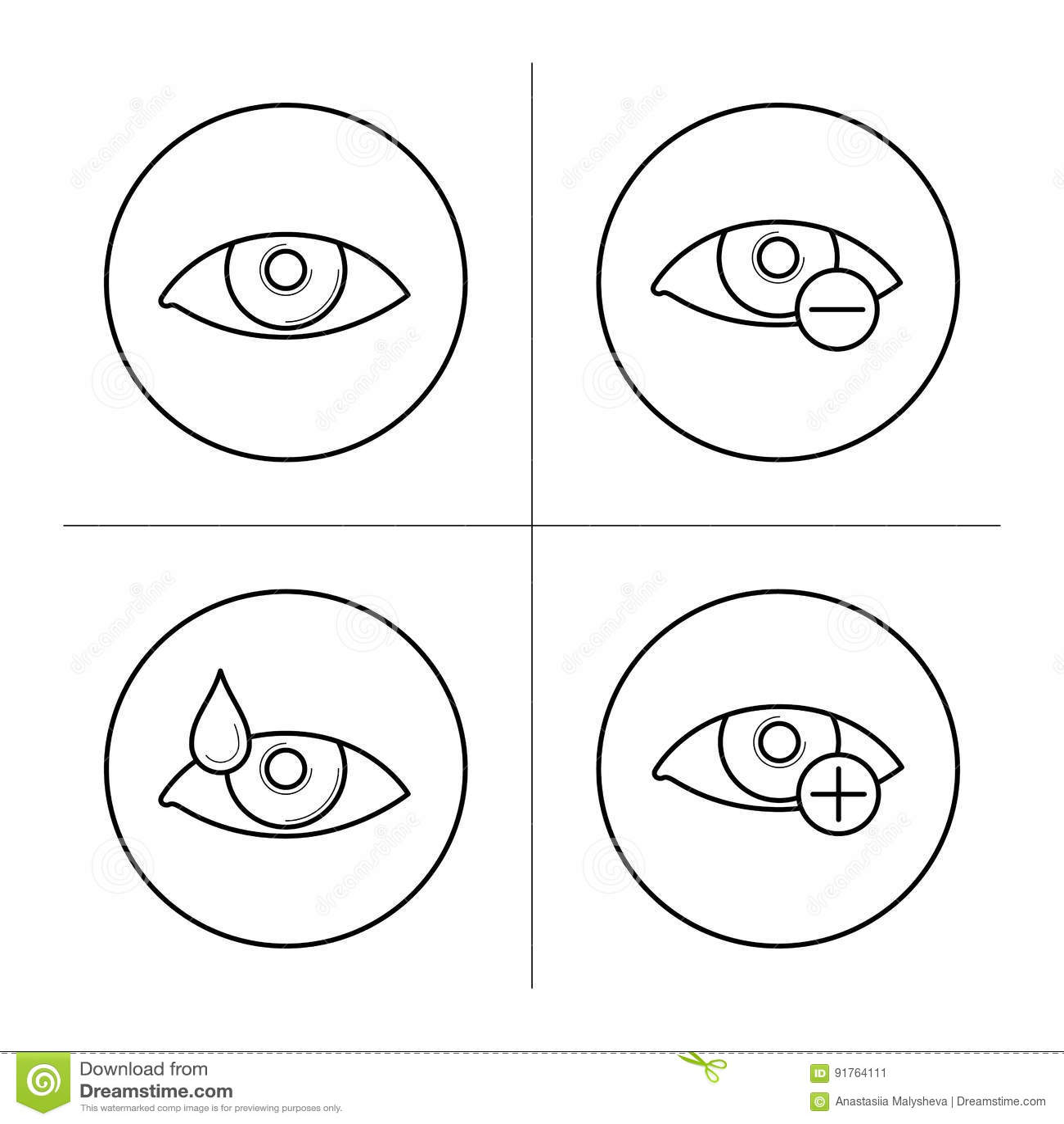 04f06fe192 Σύμβολα της μυωπίας και του Hyperopia Διανυσματική απεικόνιση ...