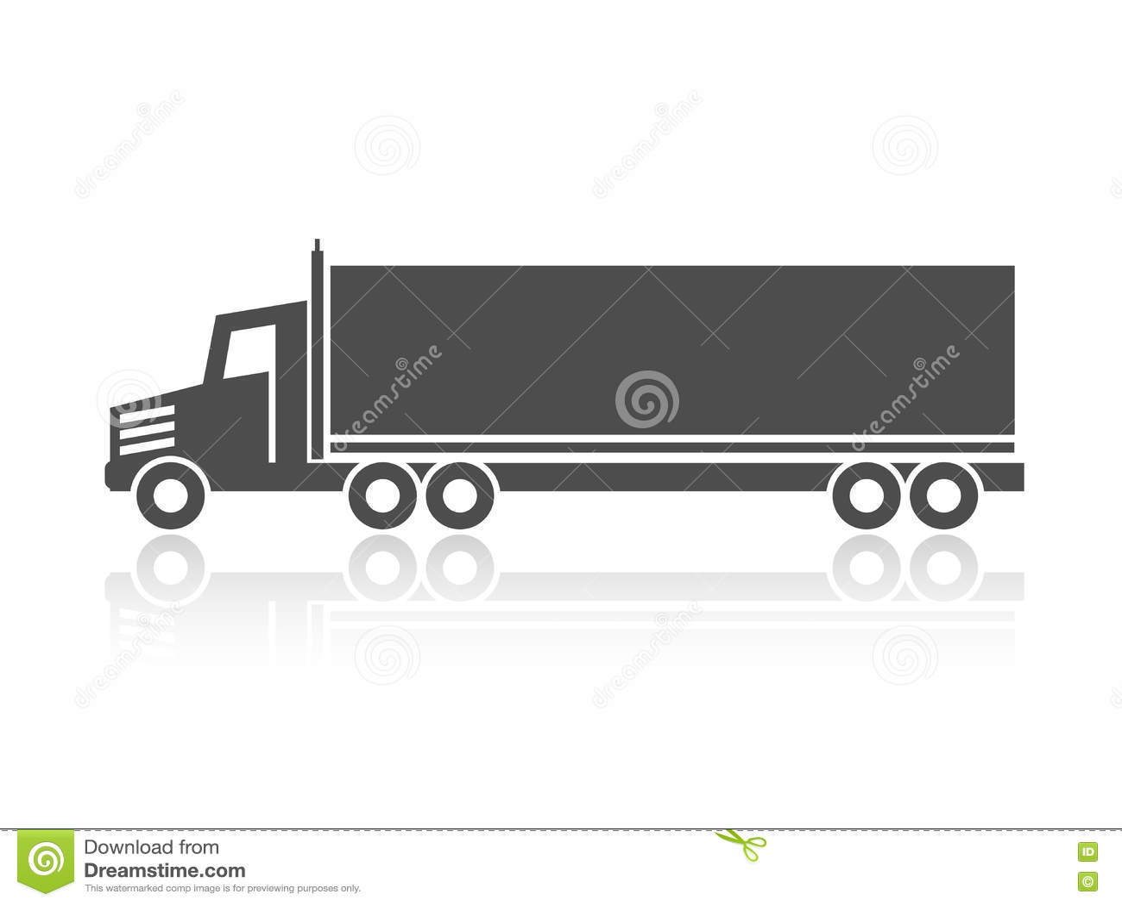 Σύμβολο της μεταφοράς, ναυτιλία εικονιδίων του κιβωτίου, σκιαγραφία του φορτηγού, φορτηγό Μονοχρωματικό σχέδιο