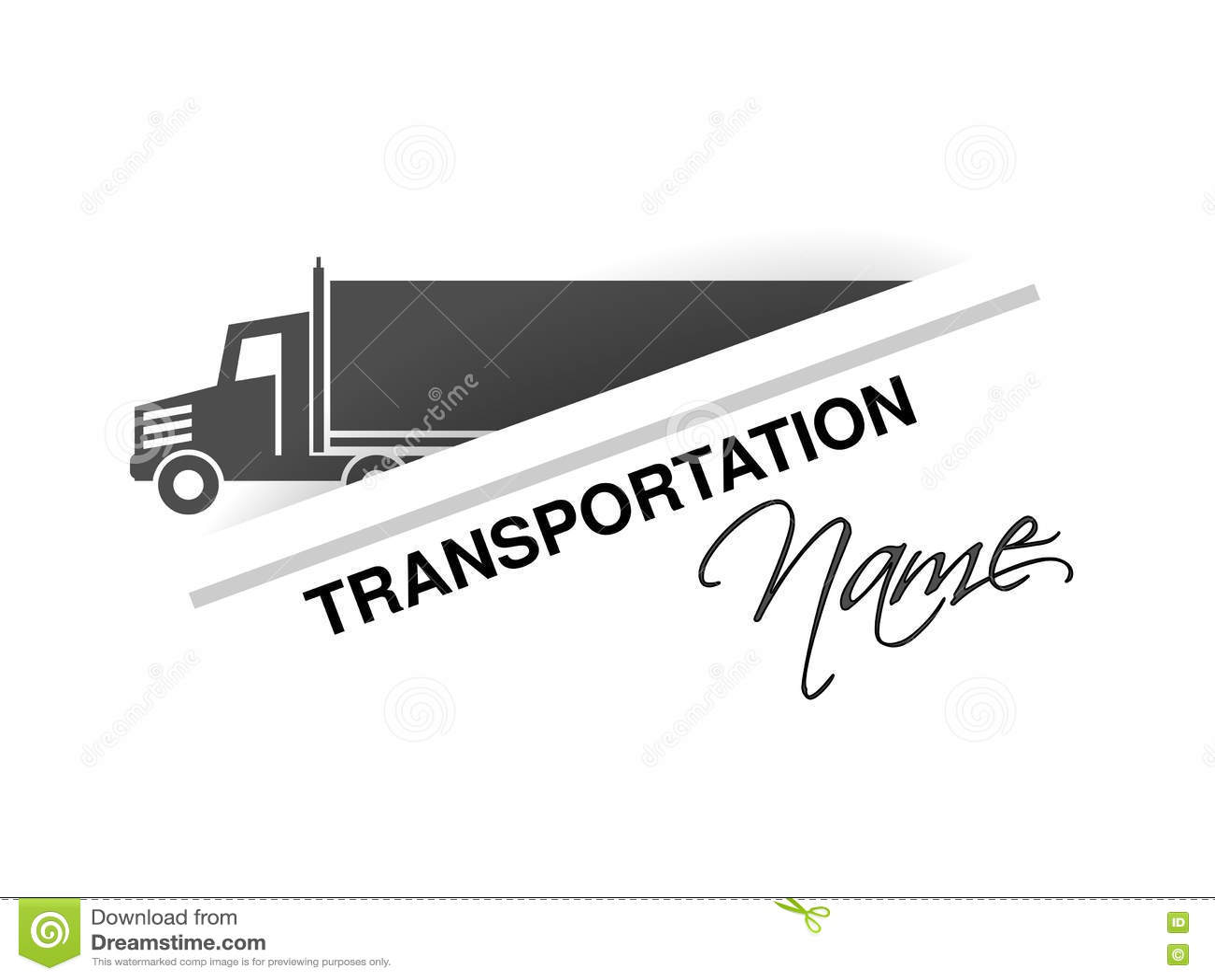 Σύμβολο της μεταφοράς, σκιαγραφία του φορτηγού, φορτηγό Σχέδιο για τη μεταφορά εμπορικών σημάτων