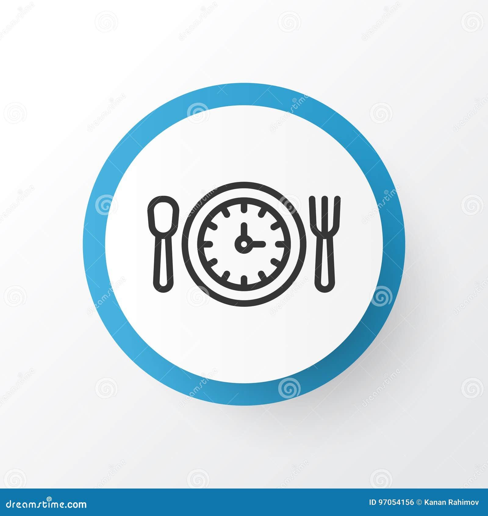Σύμβολο χρονικών εικονιδίων μεσημεριανού γεύματος Απομονωμένο στοιχείο ώρας γεύματος ασφαλίστρου ποιότητα στο καθιερώνον τη μόδα