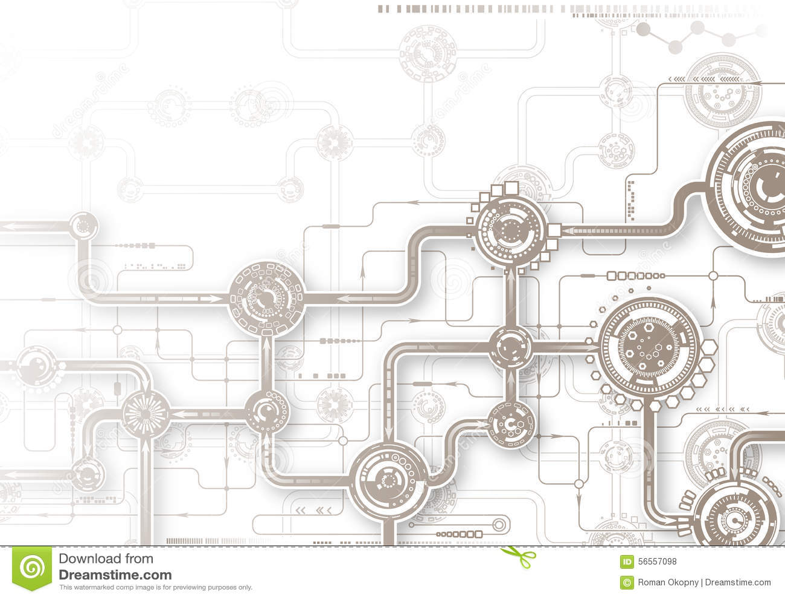 Download Σύνθεση τεχνολογίας διανυσματική απεικόνιση. εικονογραφία από χρώμα - 56557098
