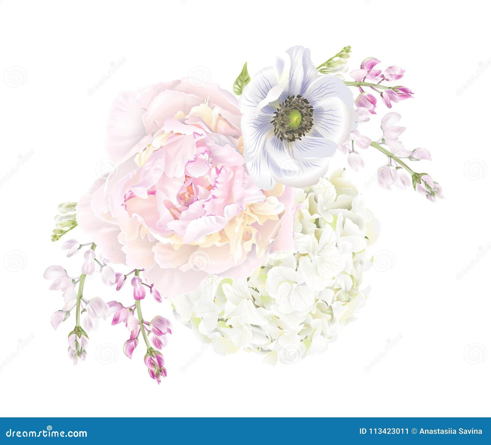 Σύνθεση anemone Peony
