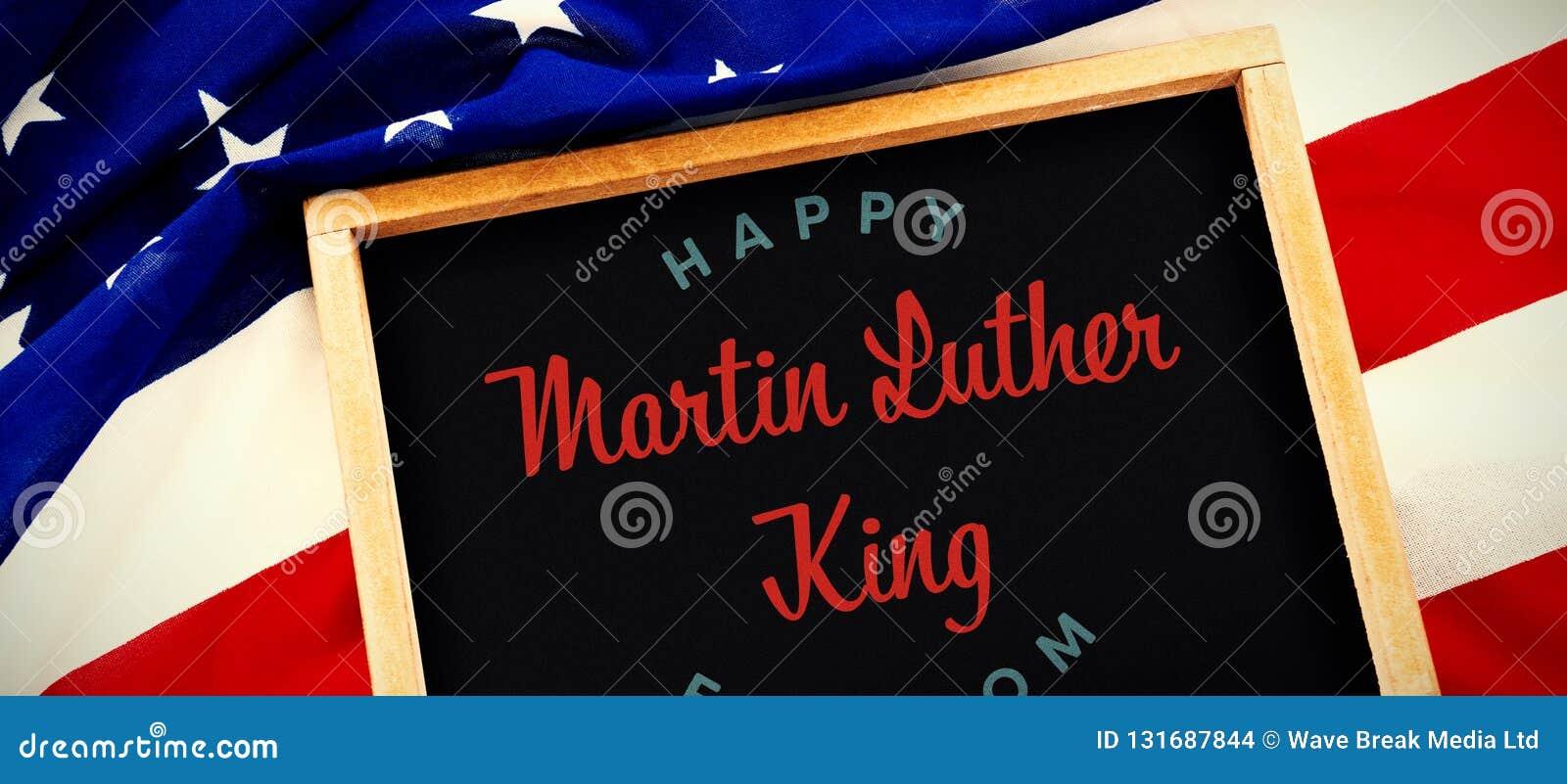 Σύνθετη εικόνα της ευτυχούς ελευθερίας βασιλιάδων Martin luther