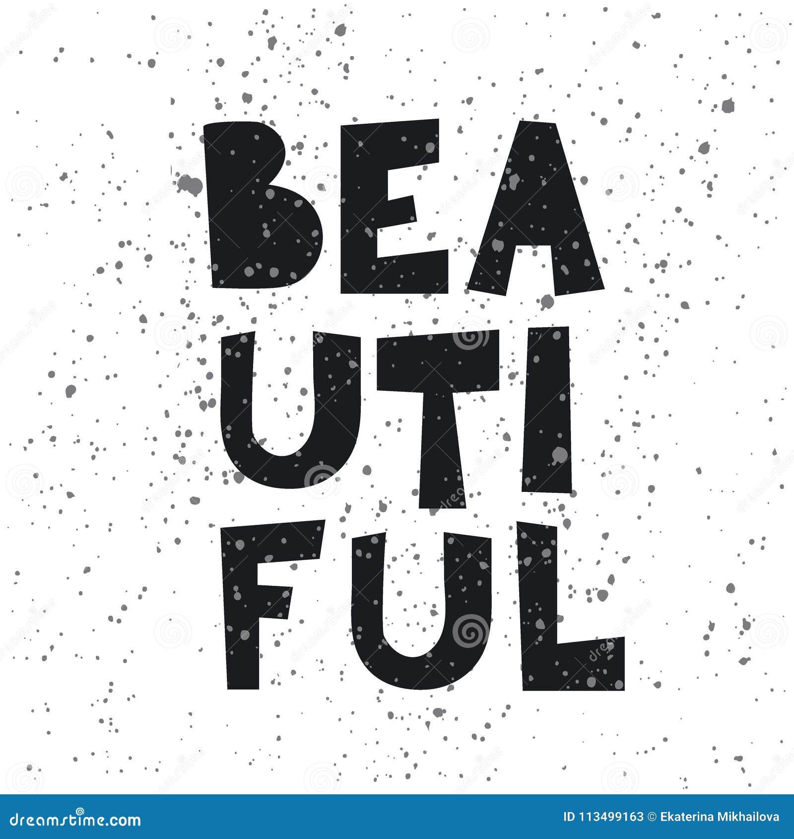 Σύνθημα μόδας ΟΜΟΡΦΟ στο διάνυσμα για την τυπωμένη ύλη μπλουζών, αφίσα, κάρτα, γεωμετρική απεικόνιση επιστολών