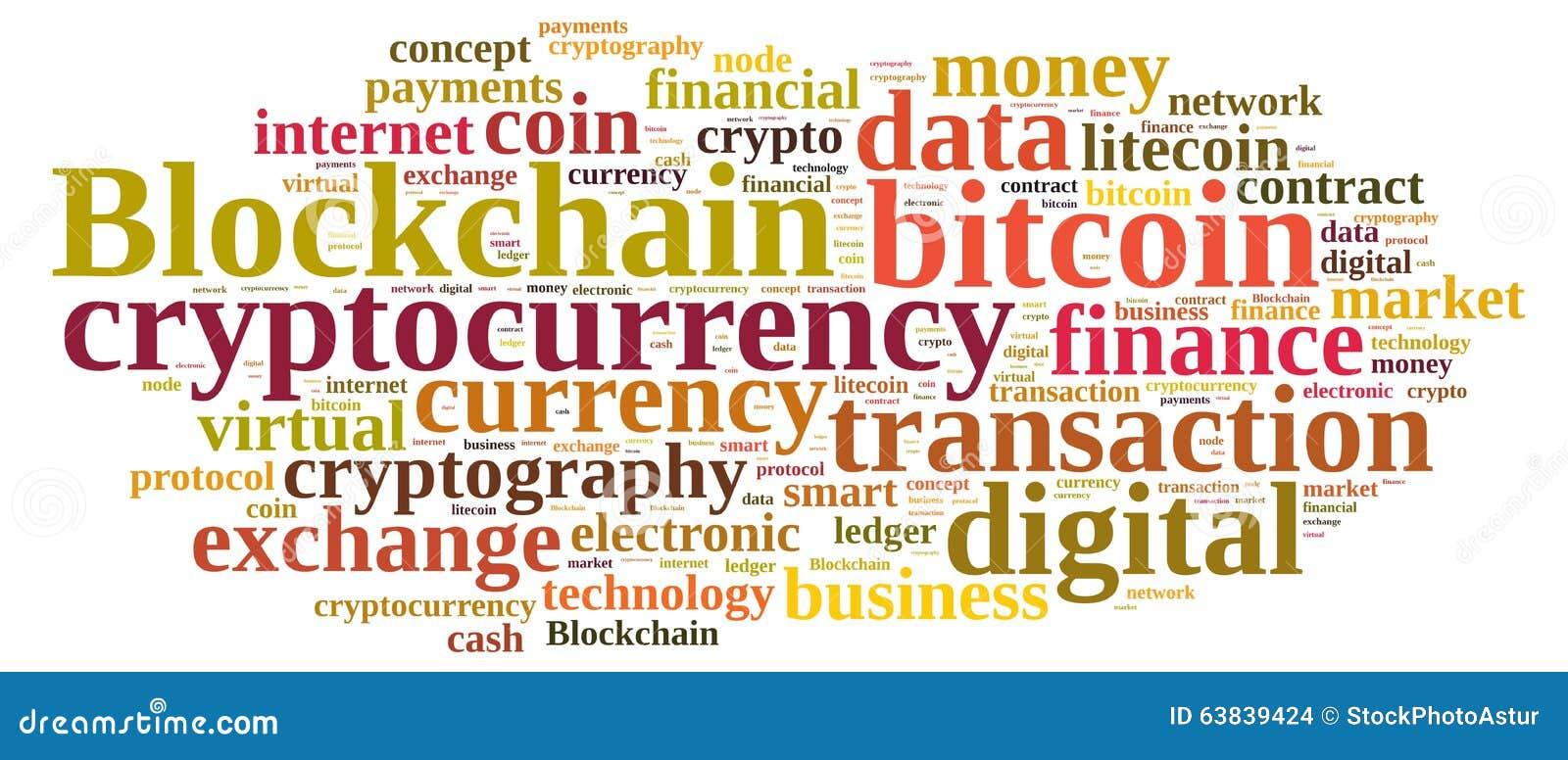 Σύννεφο λέξεων με Blockchain