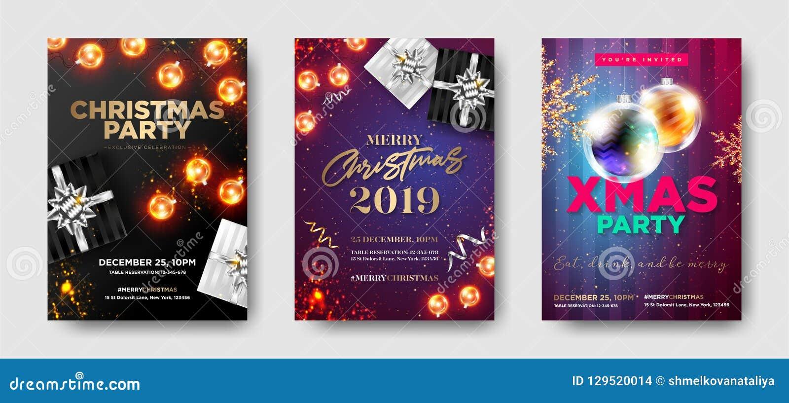 Σύνολο γιορτής Χριστουγέννων 2019 προσκλήσεις Χειμερινή σύνθεση