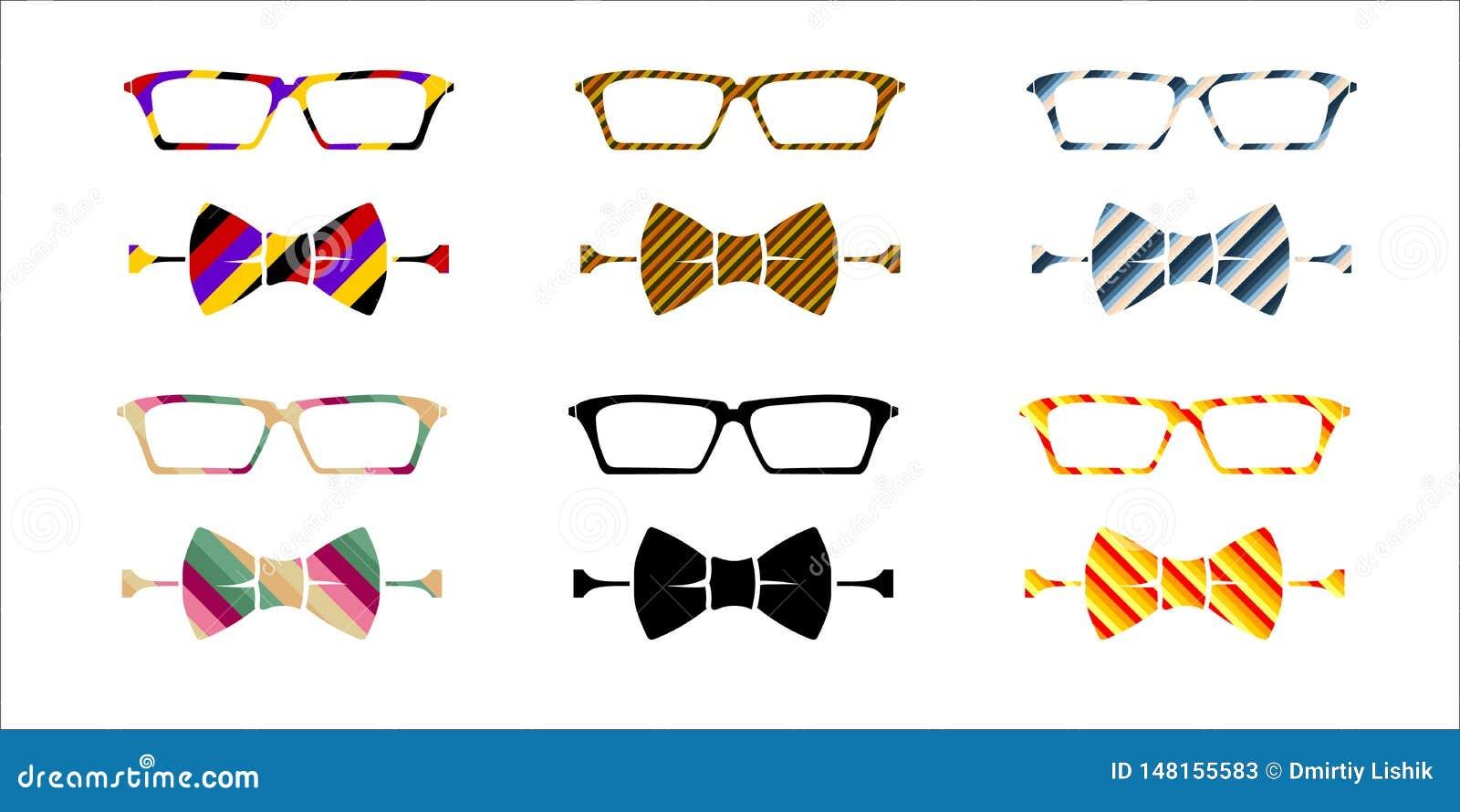 Σύνολο γυαλιών και δεσμών τόξων