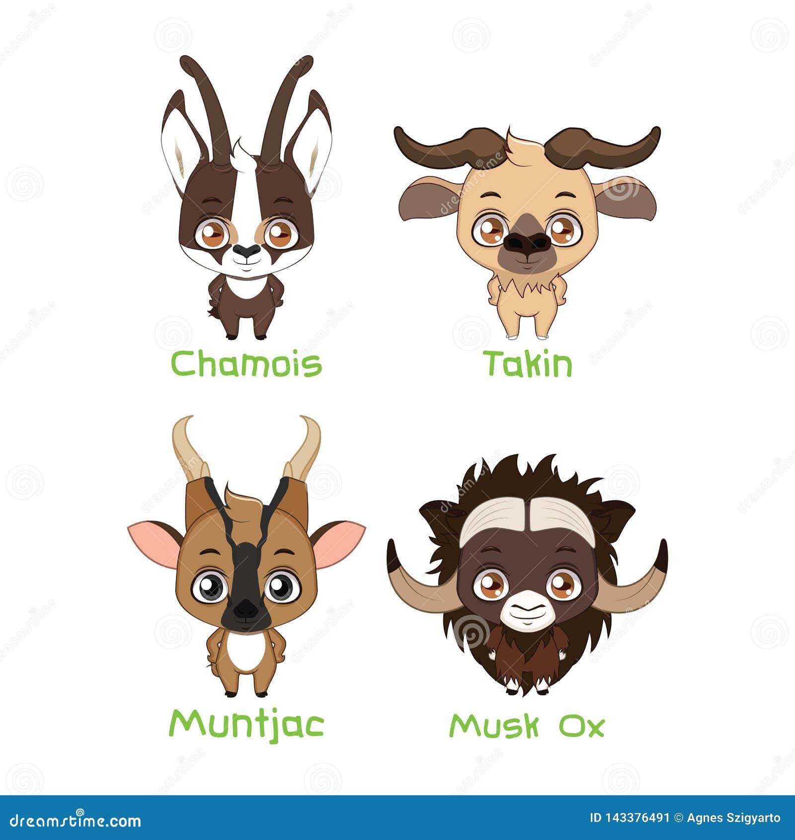 Σύνολο διάφορων herbivores με τα κέρατα