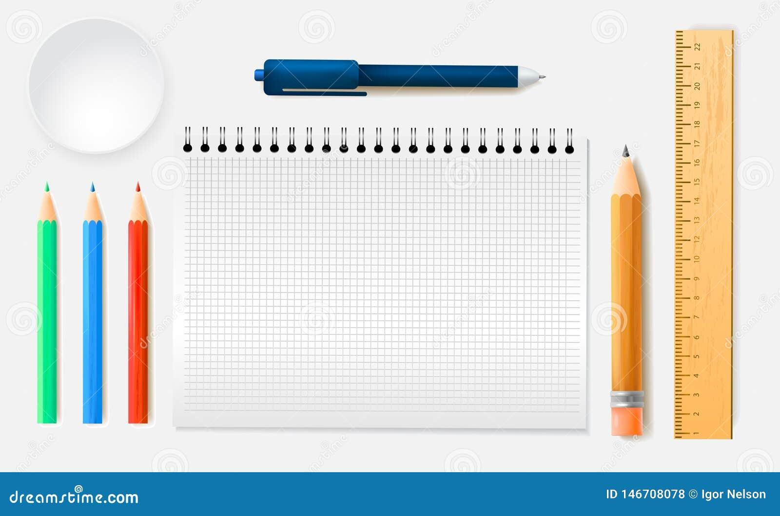 Σύνολο κατατάξεων χαρτικών μολυβιών κυβερνητών, σημειωματάριο στο ρεαλιστικό ύφος r