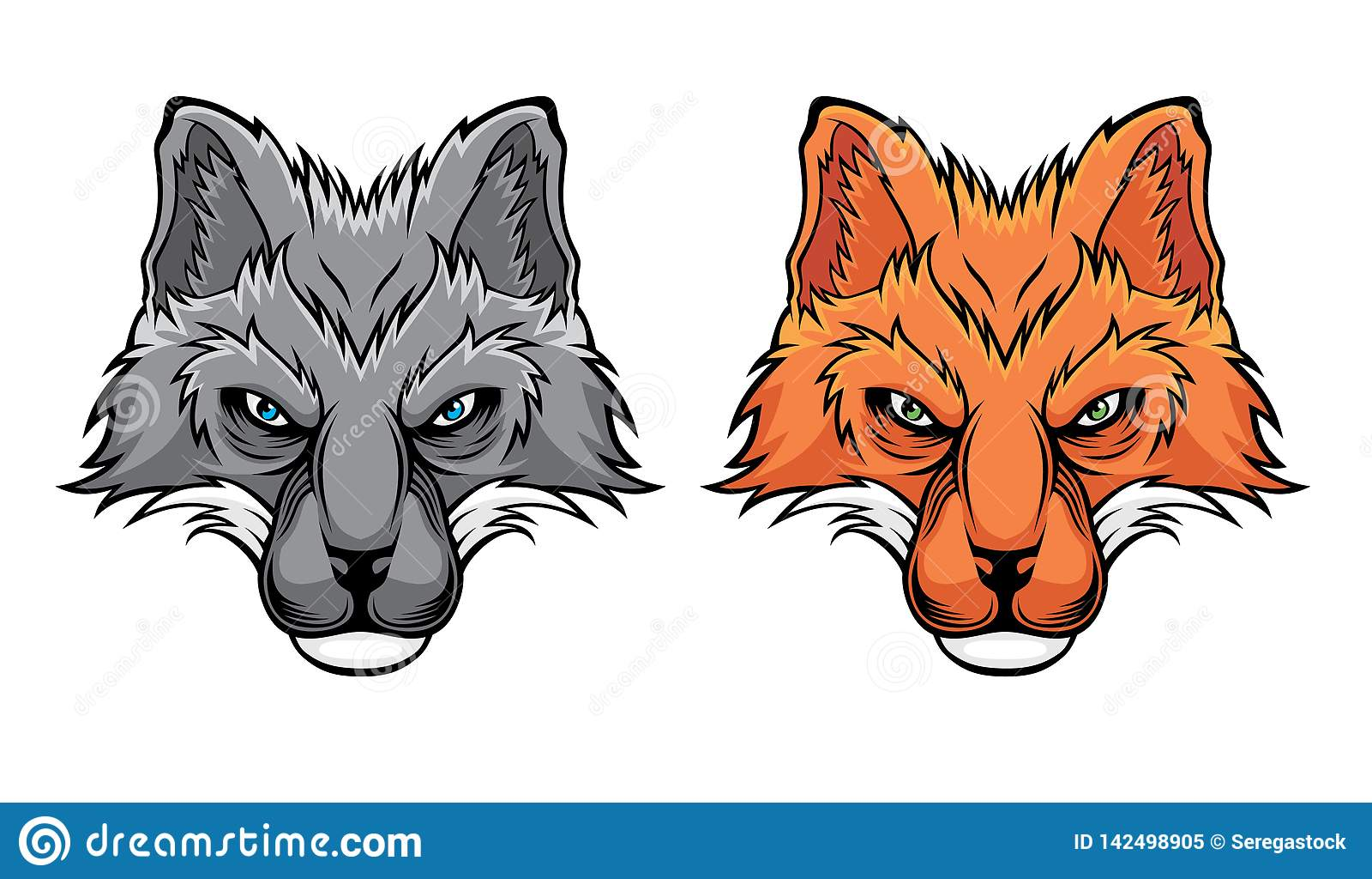 Σύνολο κεφαλιών αλεπούδων