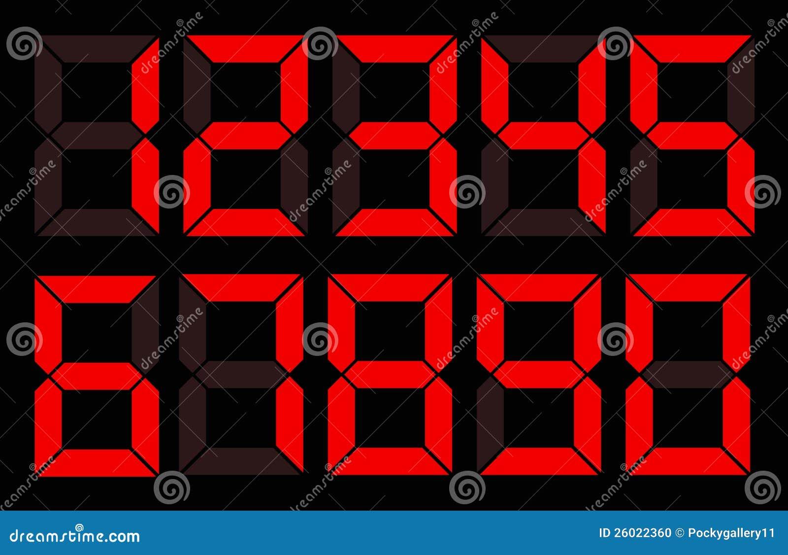 Σύνολο κόκκινου ψηφιακού αριθμού