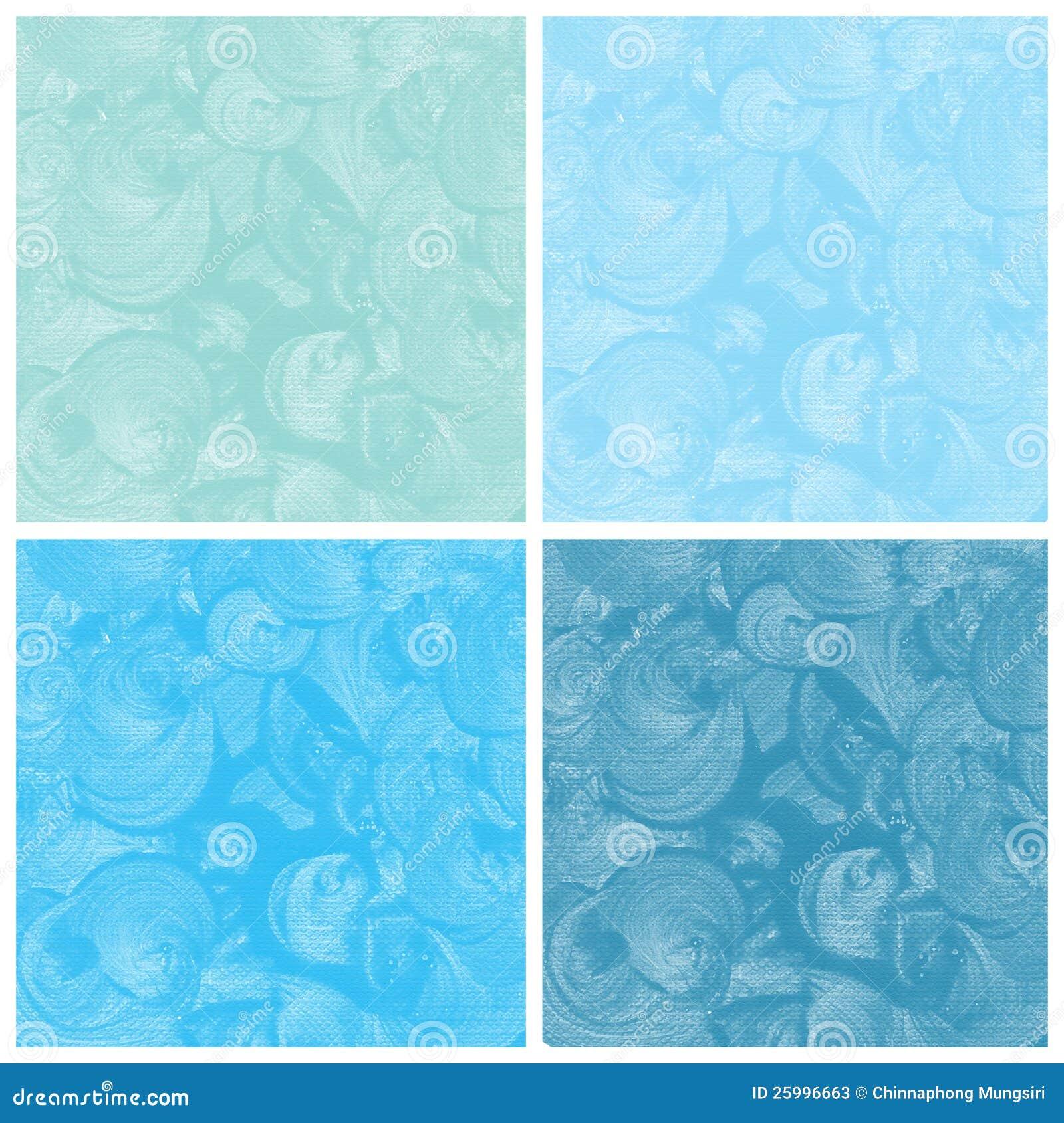 Σύνολο μπλε αφηρημένου χεριού watercolor που χρωματίζεται