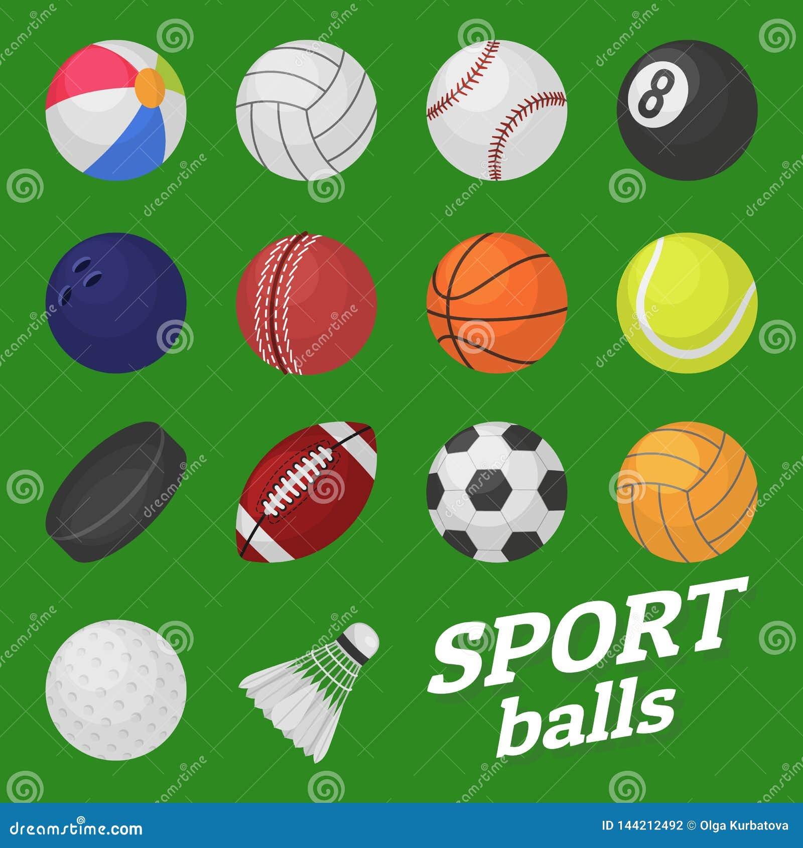 Σύνολο παιχνιδιών σφαιρών Αθλητισμός και σφαίρα παιδιών παιχνιδιών για το διάνυσμα σφαιρών χόκεϋ ποδοσφαίρου ποδοσφαίρου αντισφαί