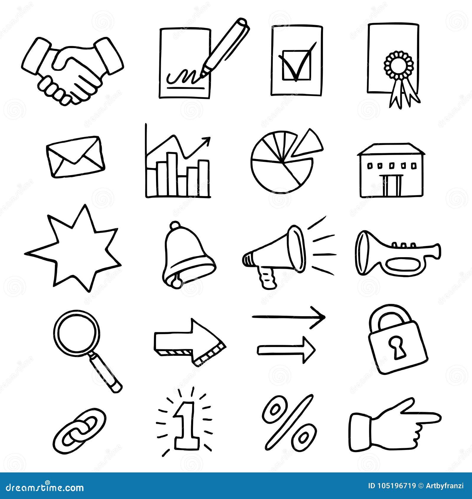 Σύνολο 20 σχετικών με την επιχείρηση εικονιδίων