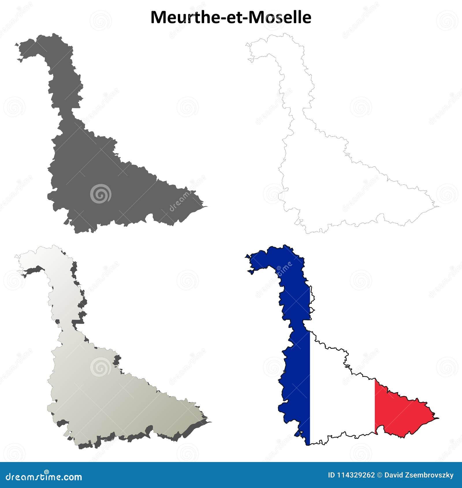 Σύνολο χαρτών περιλήψεων meurthe-et-Μοζέλλα, Λωρραίνη