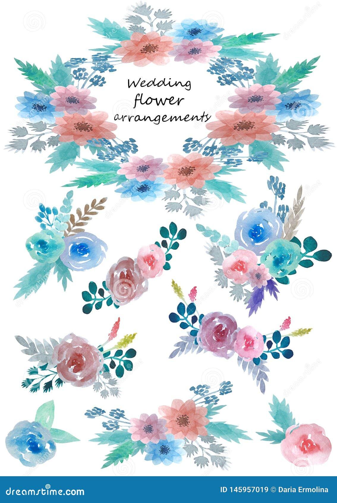 Σύνολο floral ρυθμίσεων