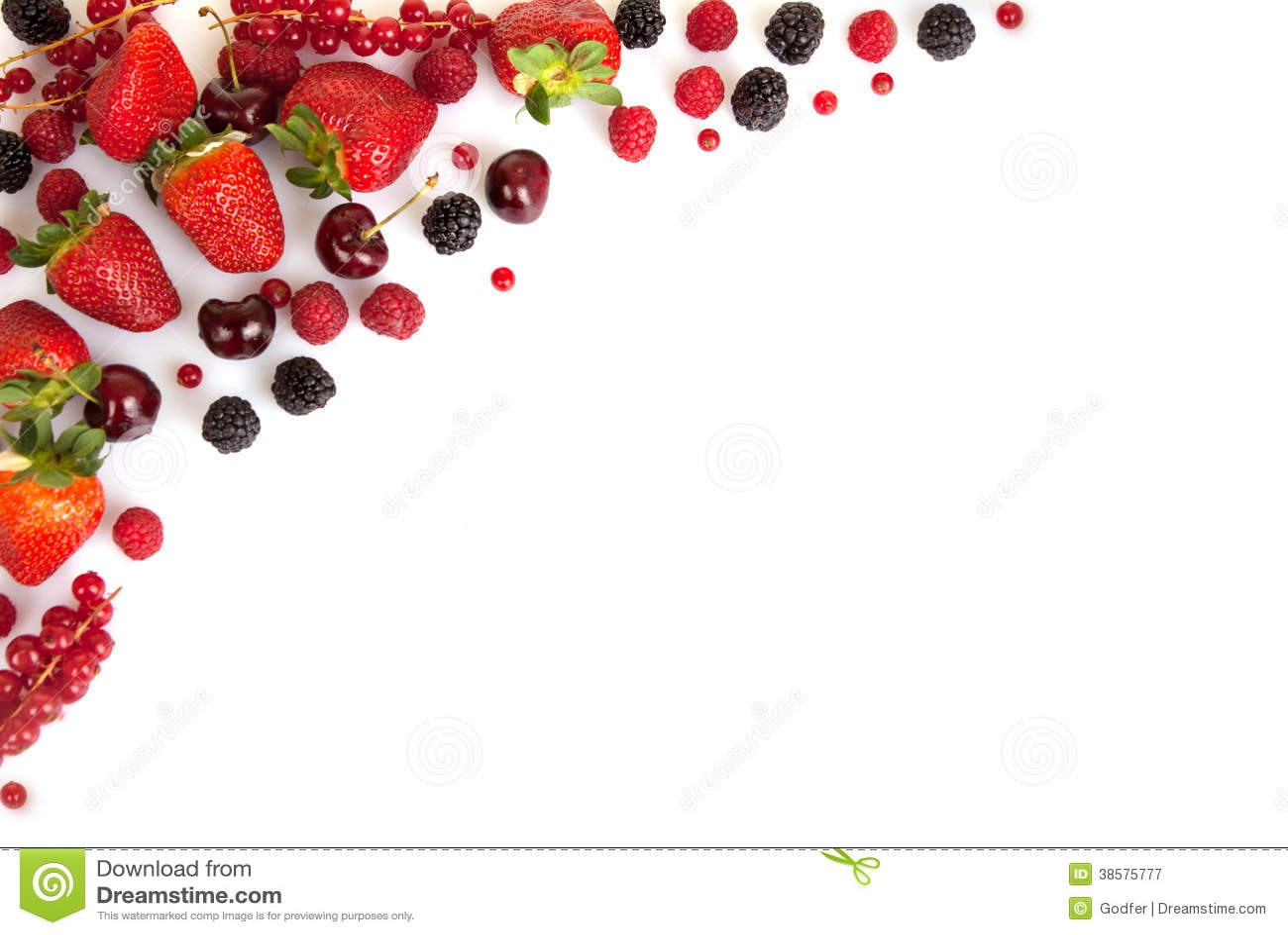 Σύνορα πλαισίων ή άκρη των κόκκινων φρέσκων θερινών φρούτων
