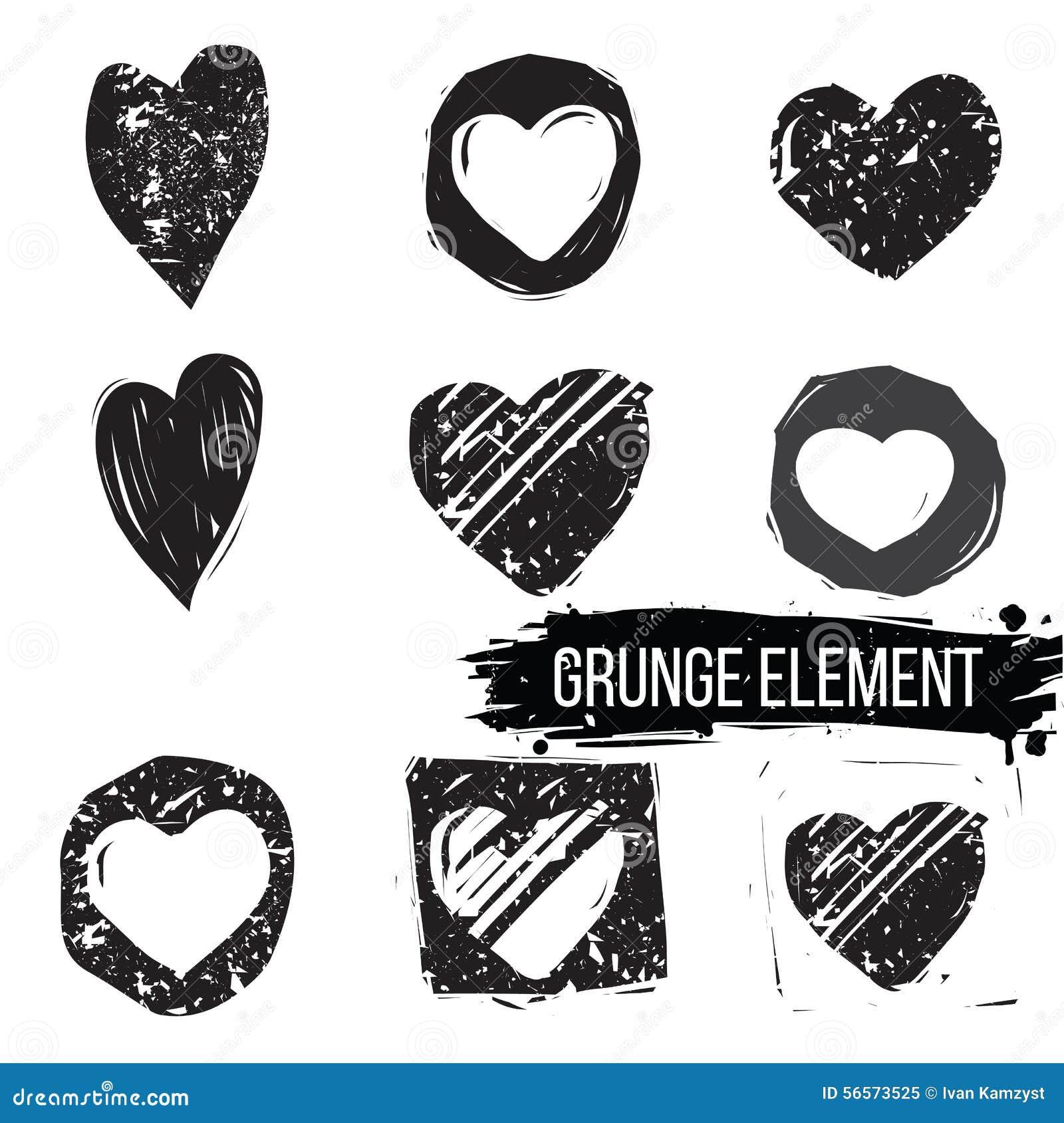 Download Σύνολο αφηρημένων καρδιών διανυσματική απεικόνιση. εικονογραφία από cartoon - 56573525